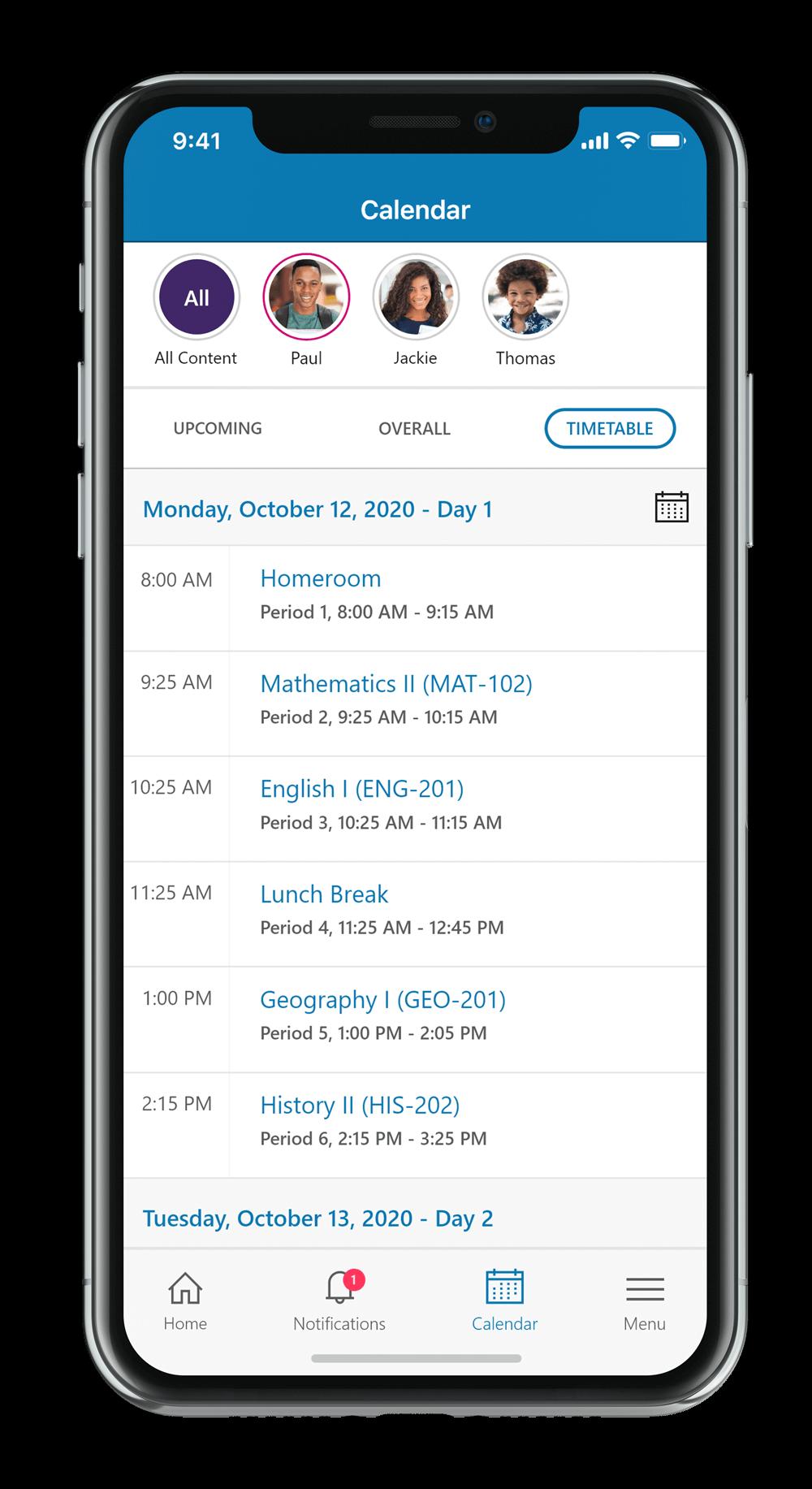 SchoolBundle App: Timetables