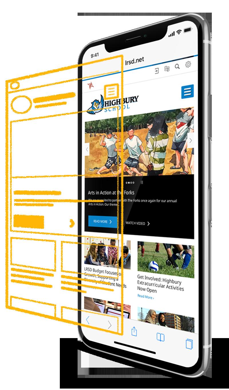 LRSD School Homepage on iPhone