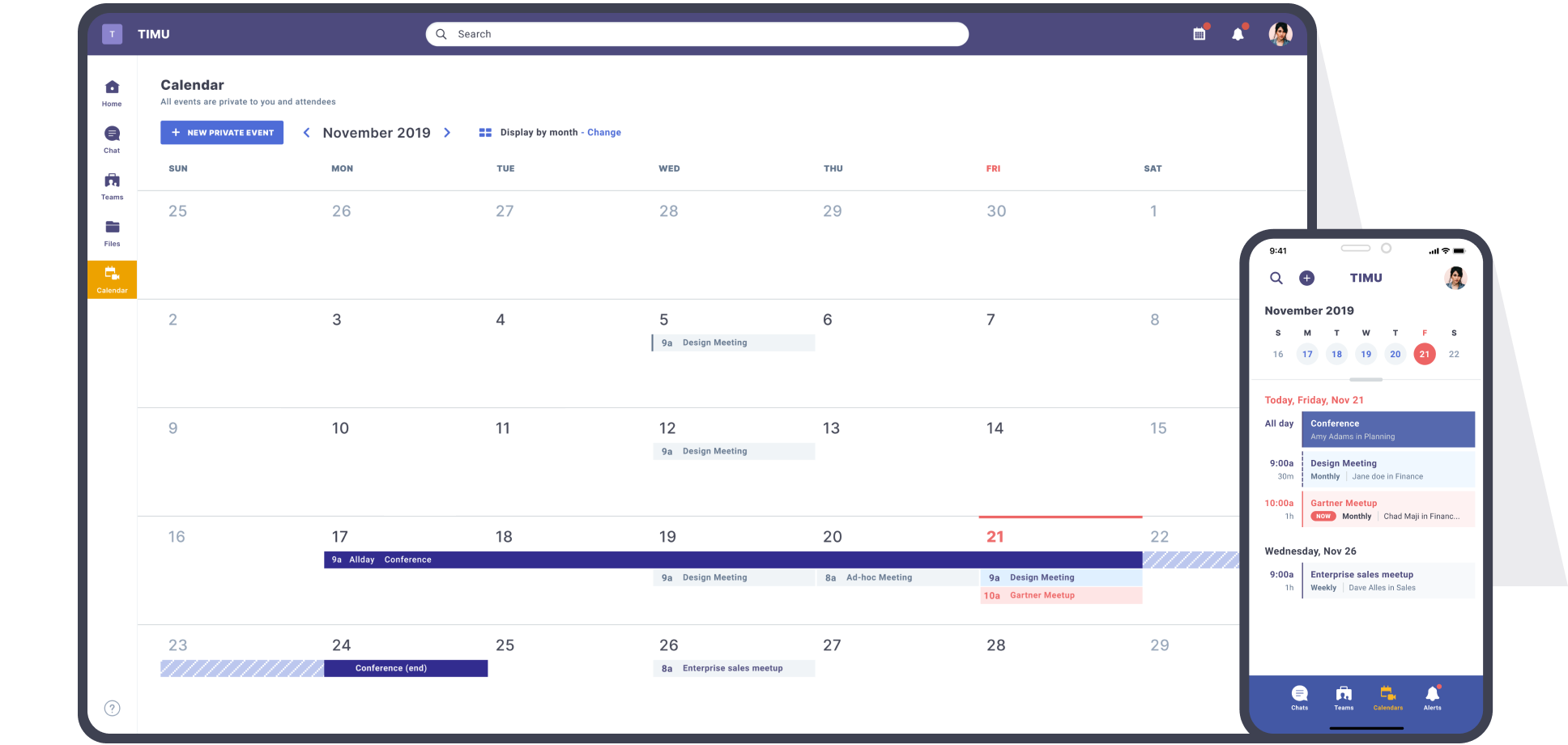 TIMU Product Calendar for Web, Desktop & Mobile