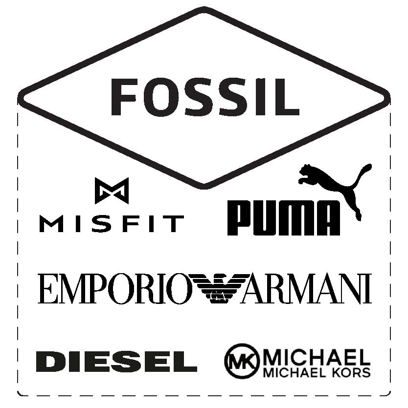 Fossil, Misfit, Puma, Emporio Armani, Diesel, Michael Kors