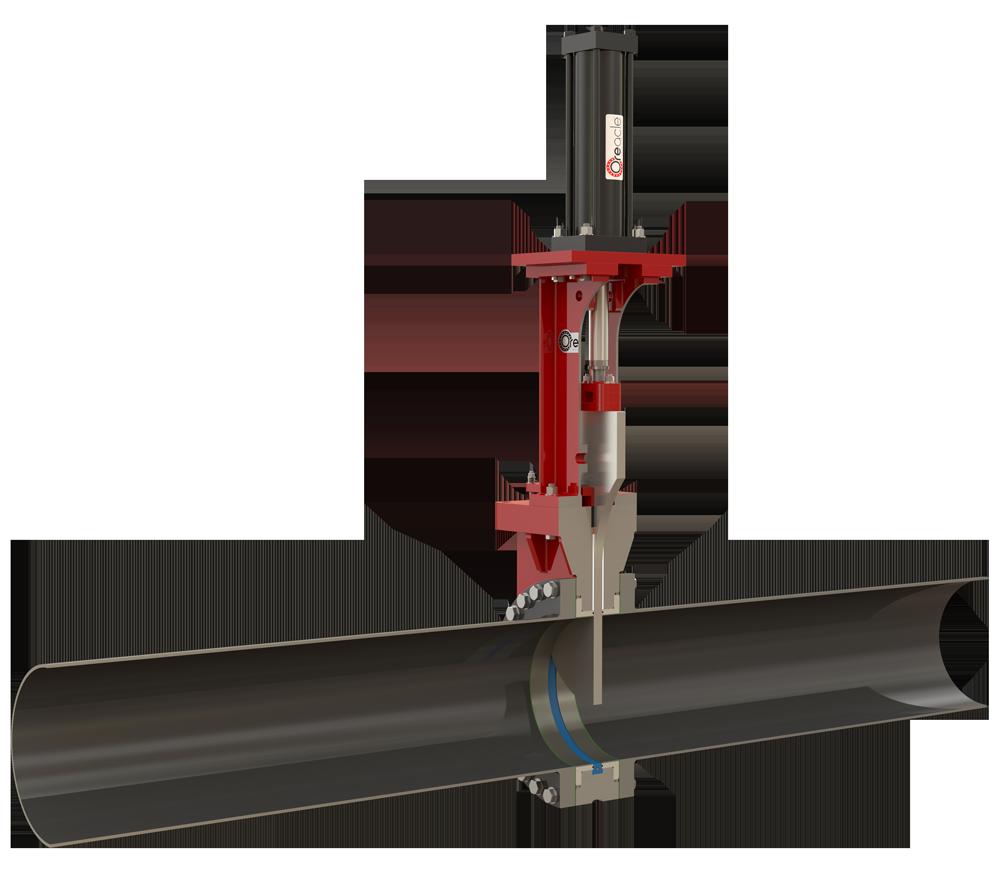 Oreacle knife gate isolation valve's flush bore