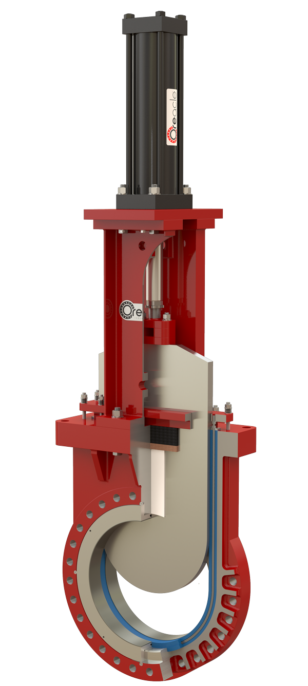 Oreacle knife gate valve