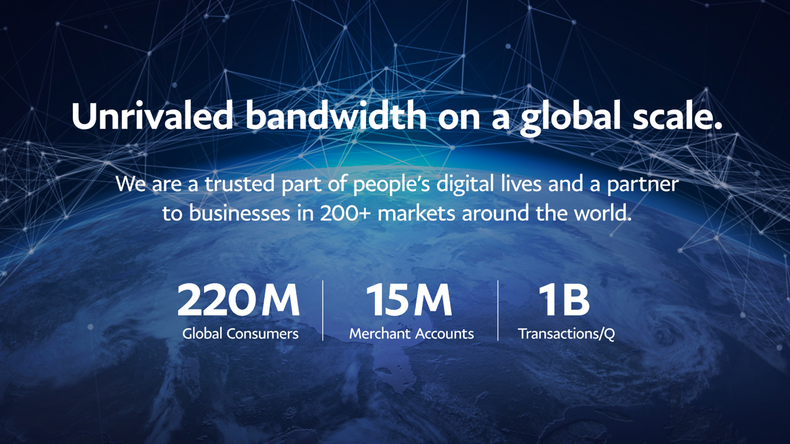 Unrivaled bandwidth on a global scale