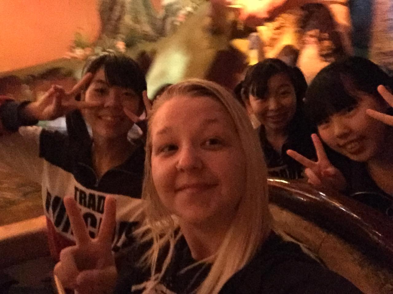 Gemma at Disneyland Tokyo on Splash Mountain