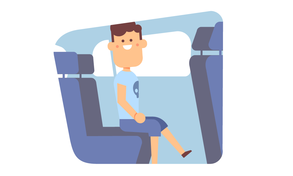 Ford back seat illustration.