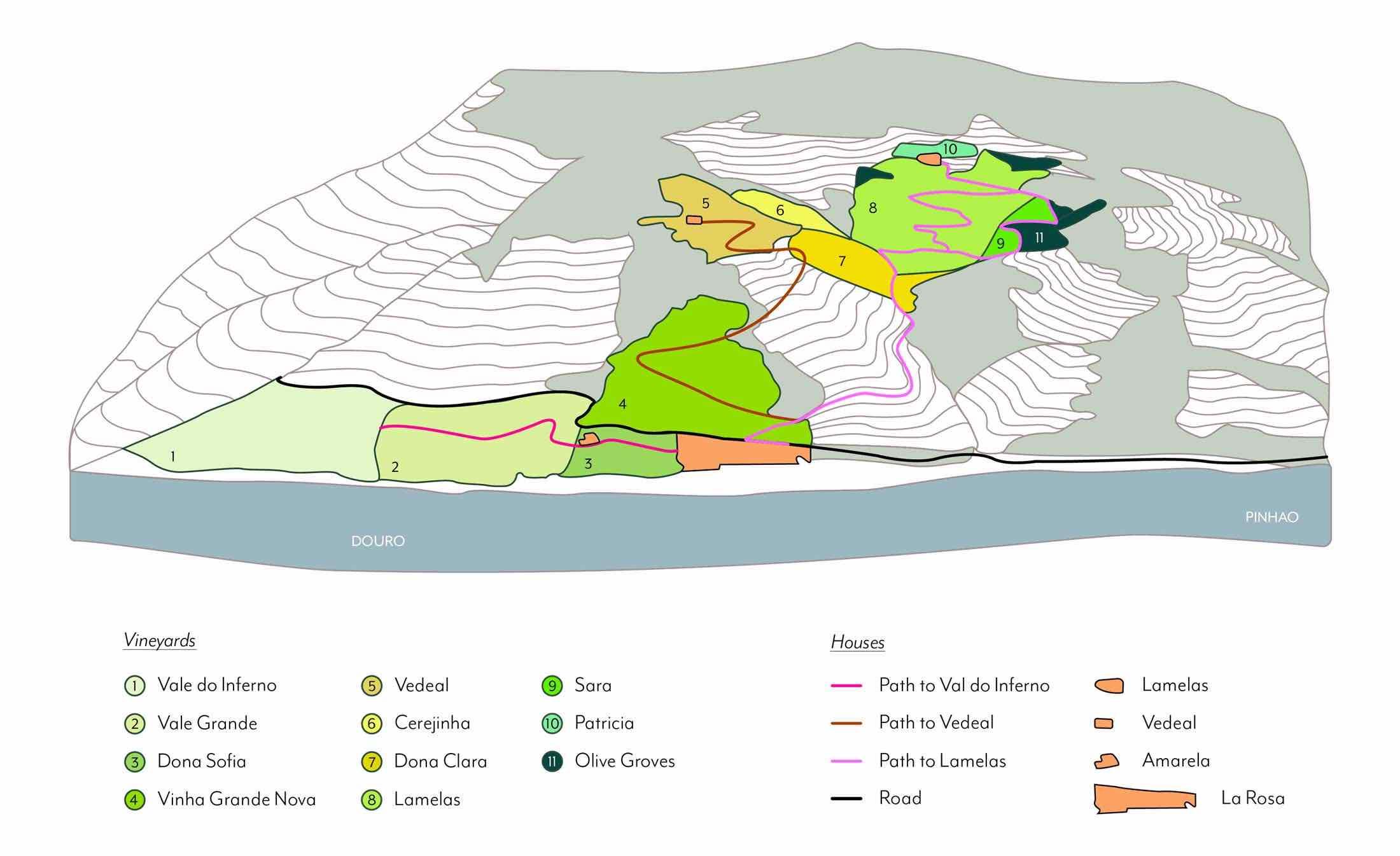 Map of Quinta de la Rosa - Across from the river