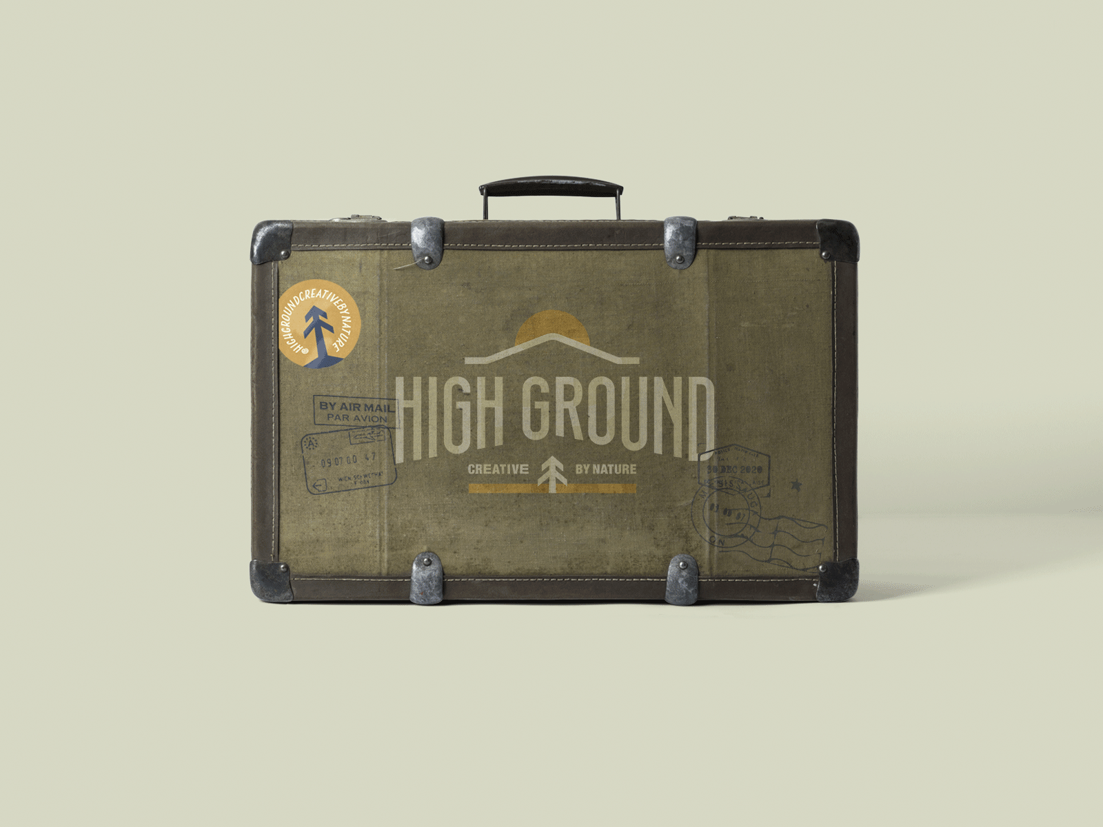 Branded Suitcase for High Ground Brand Identity Design Project