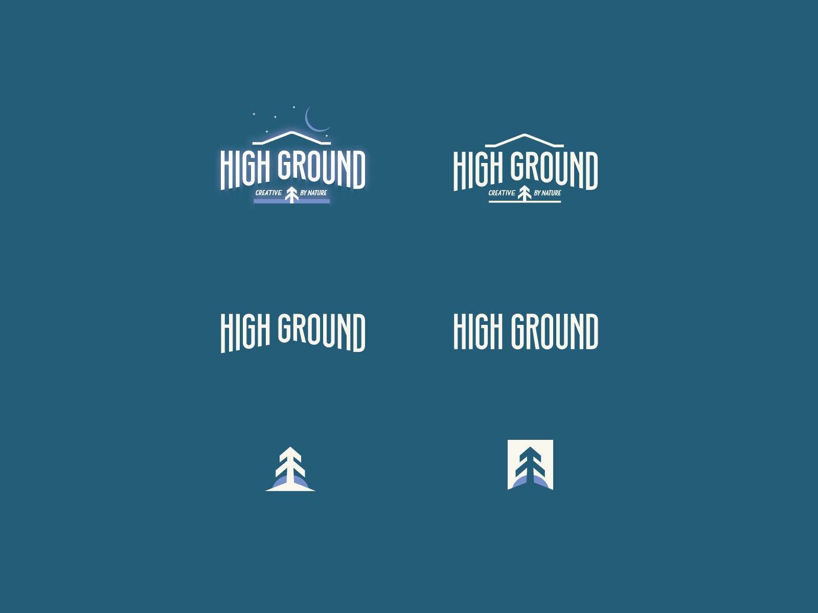 Logo Design in Reverse Colour for High Ground Brand Identity Design Project