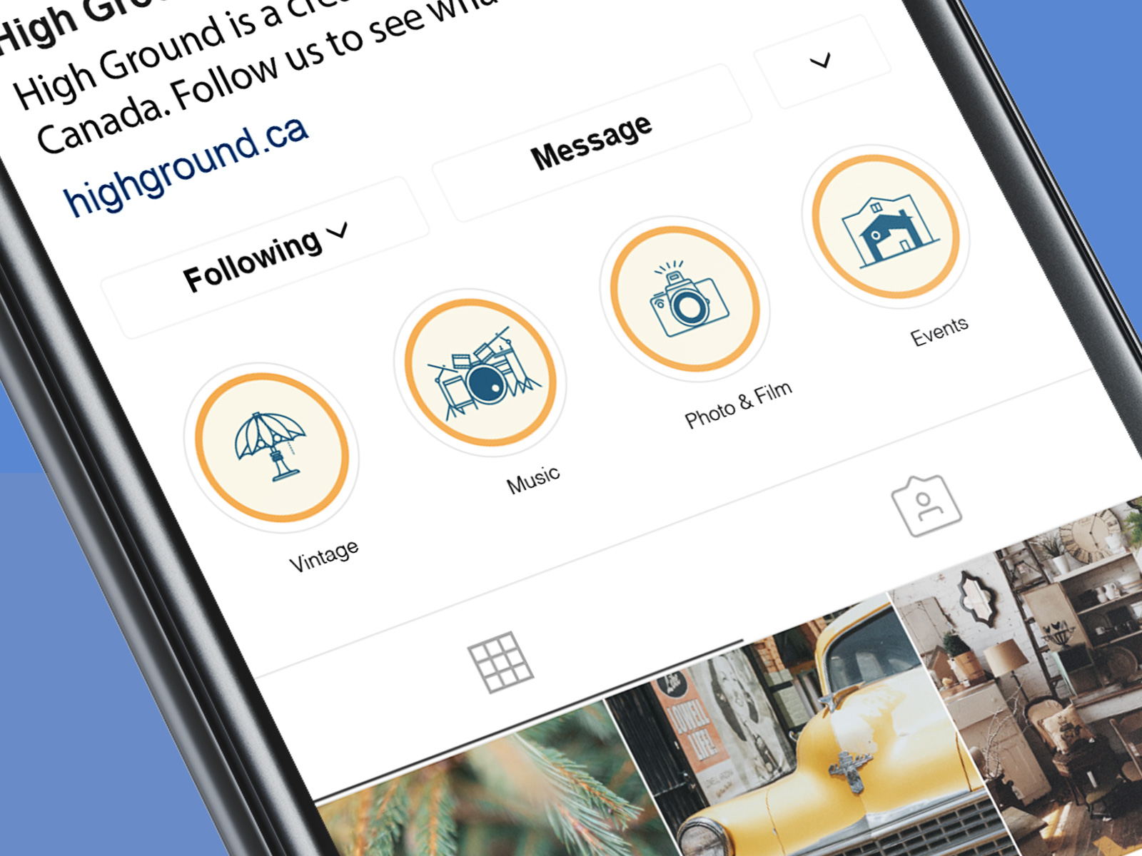 instagram Icon Designs for High Ground Brand Identity Design Project