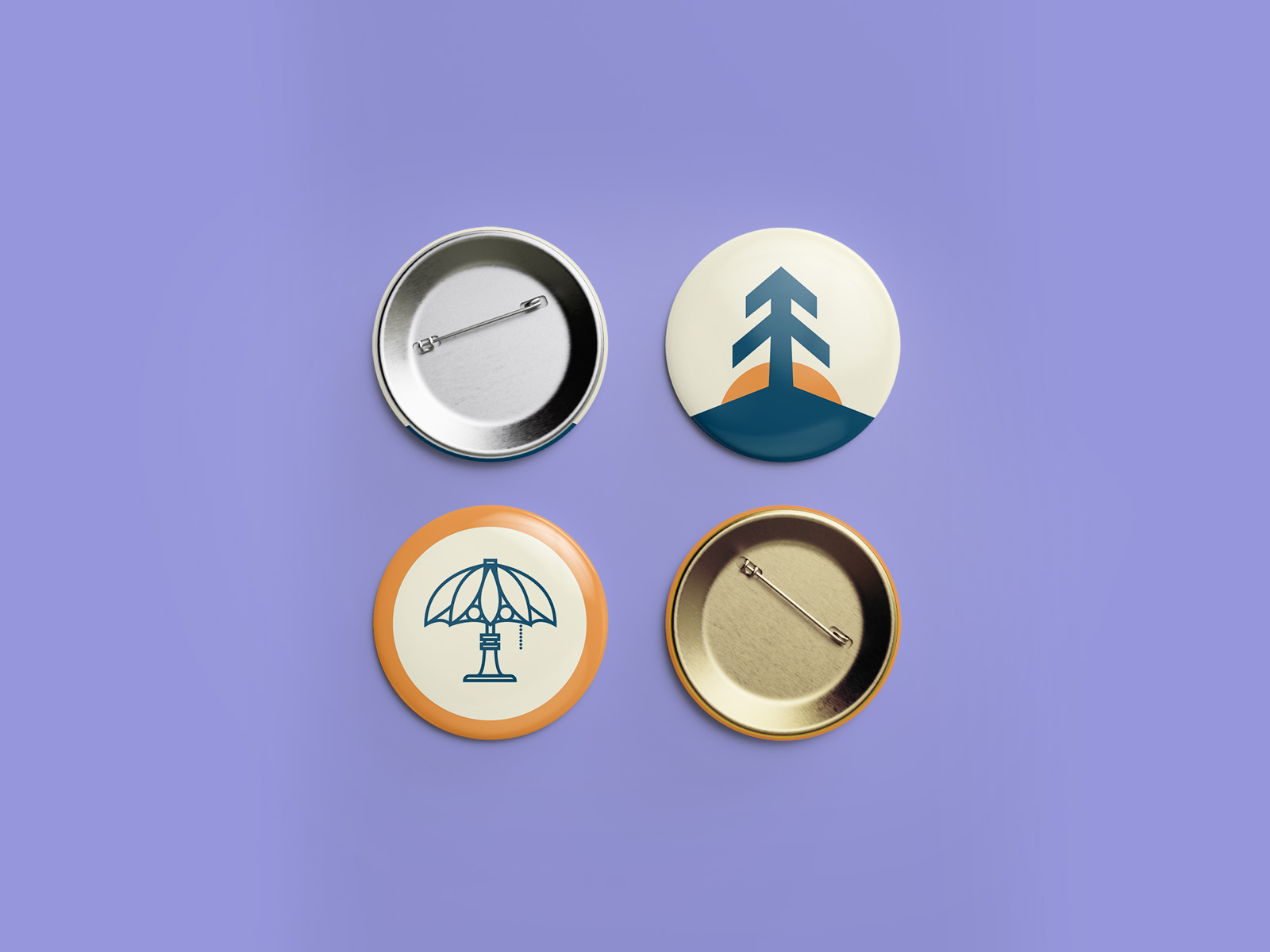 collectable pin design for High Ground Brand Identity Design Project