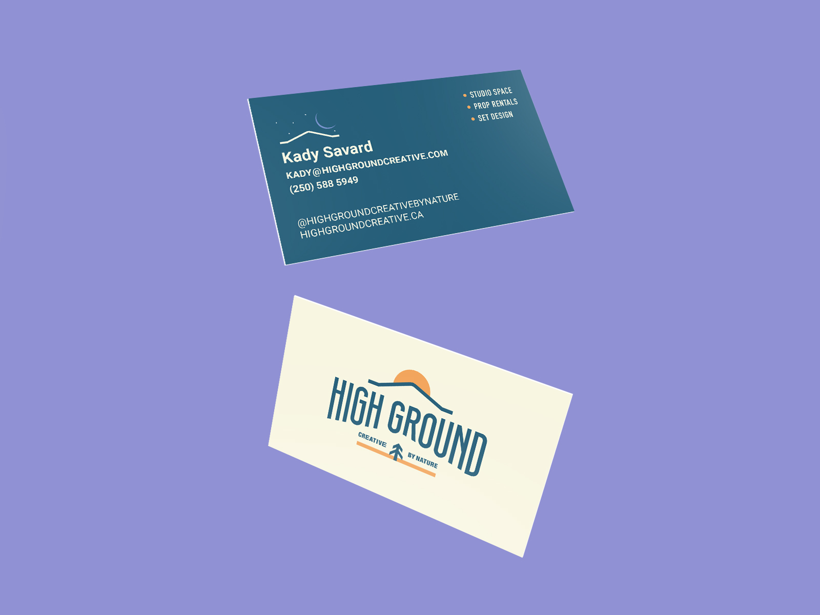 business card design for High Ground Brand Identity Design Project