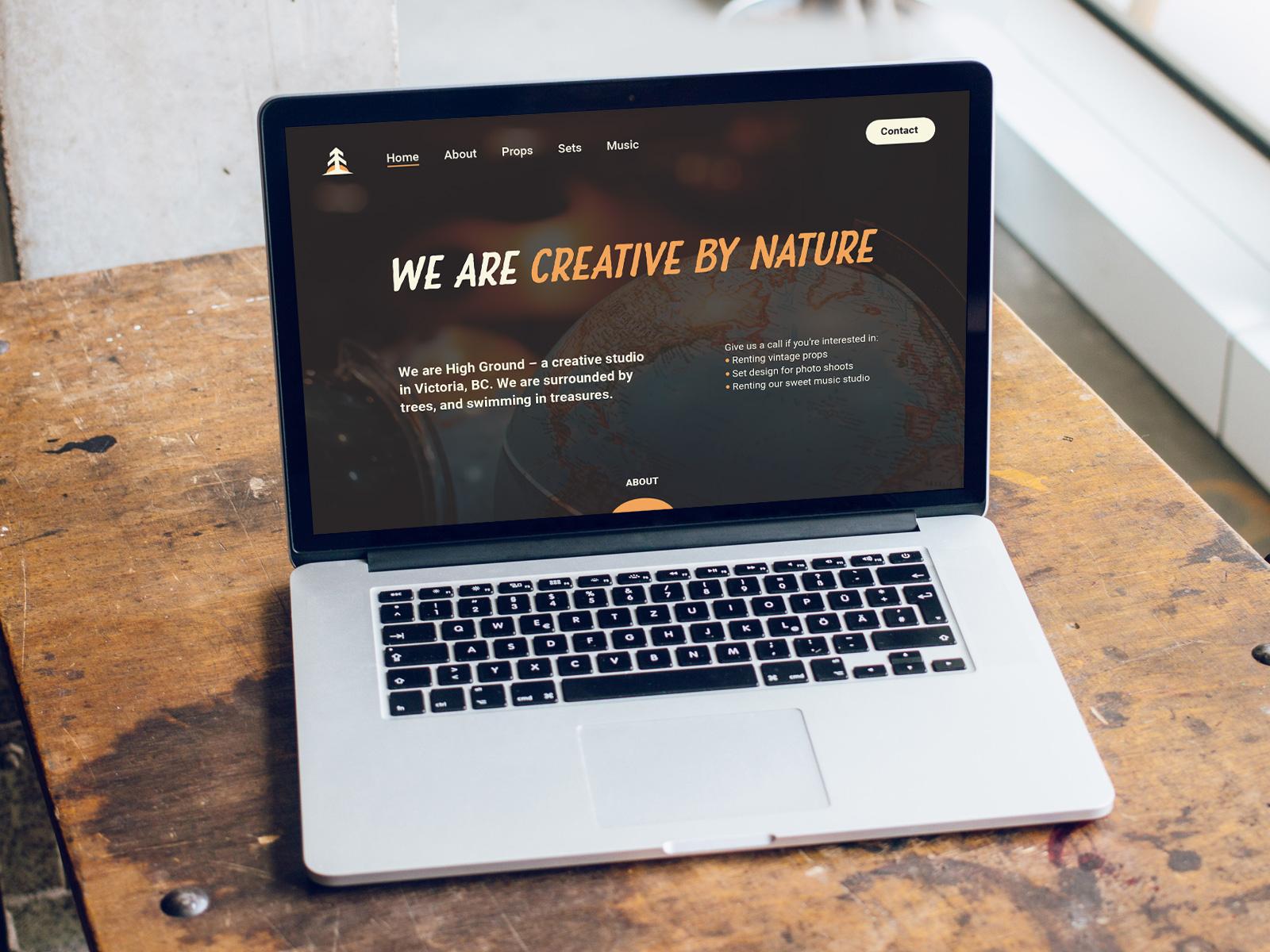 website design for High Ground Brand Identity Design Project
