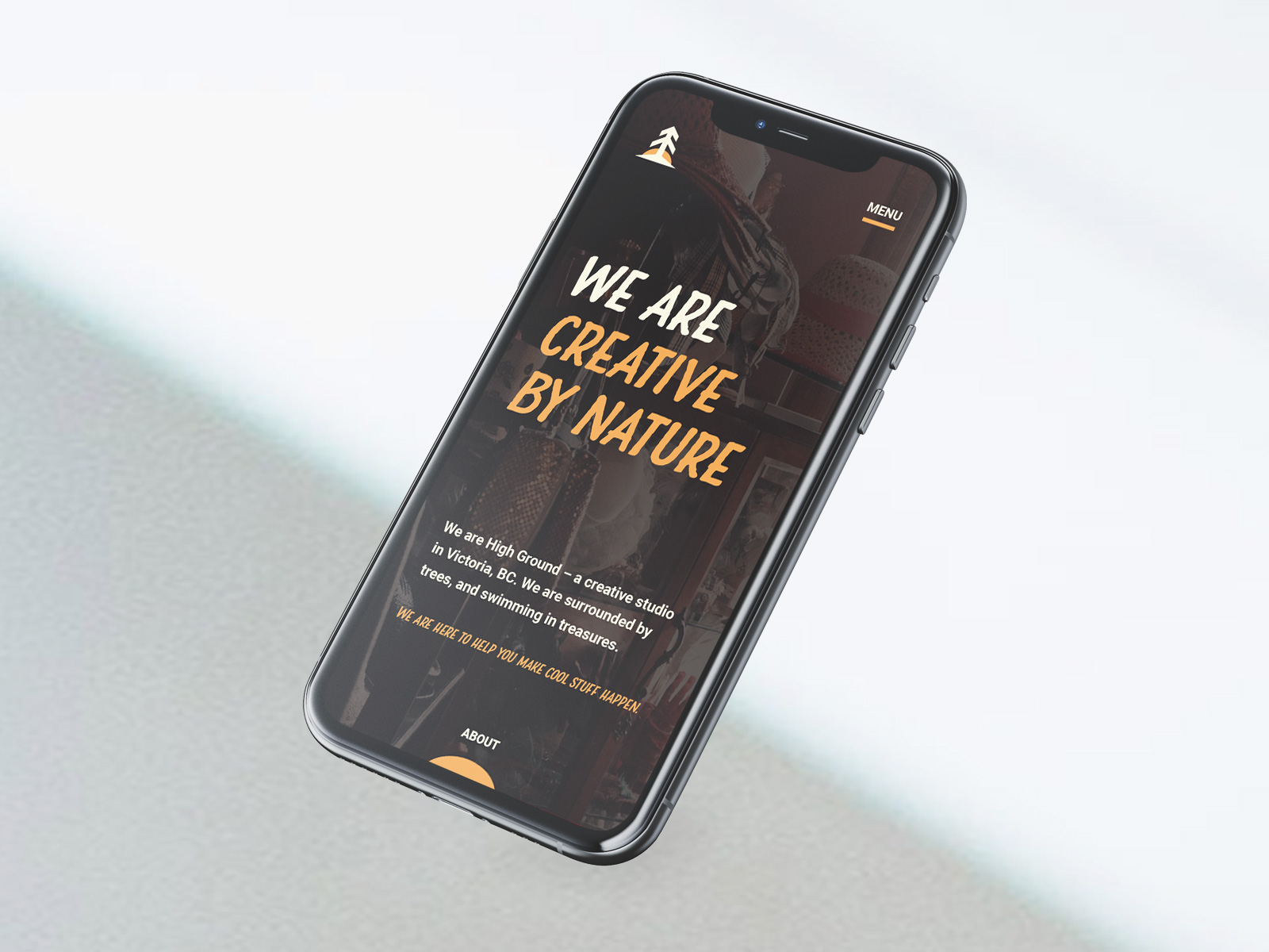 website design on mobile for High Ground Brand Identity Design Project