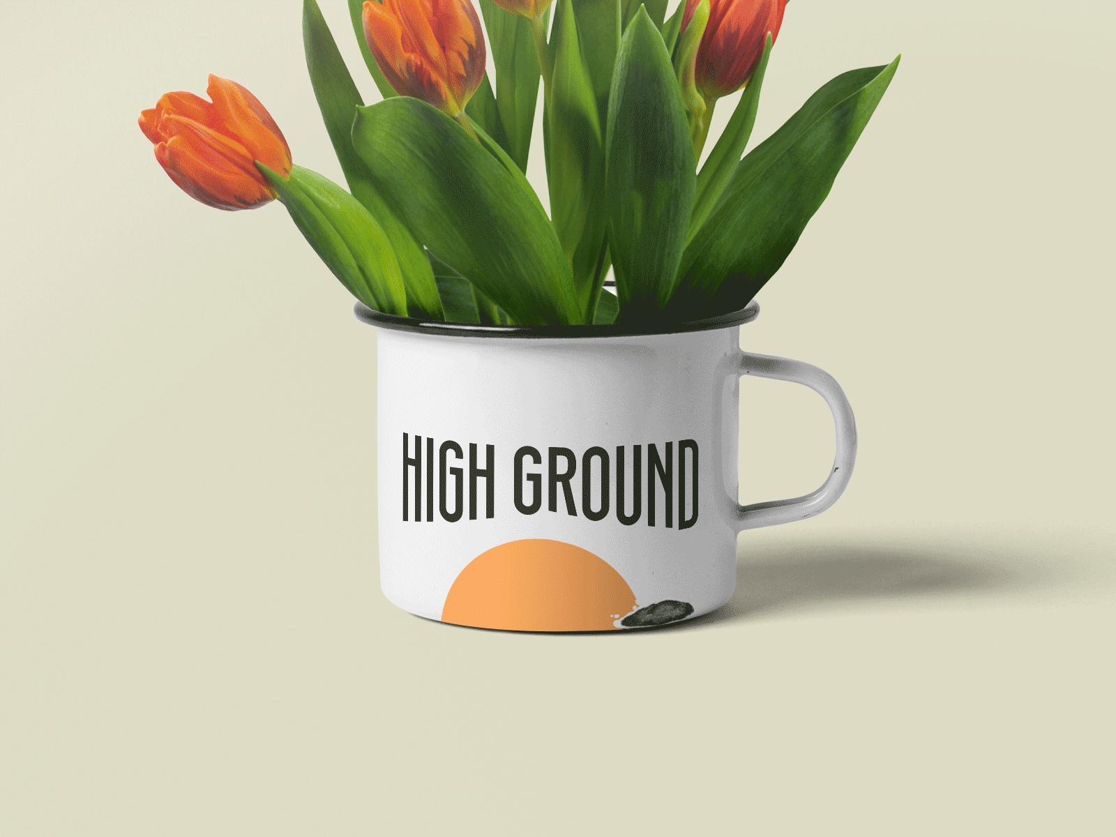 metal mug design for High Ground Brand Identity Design Project