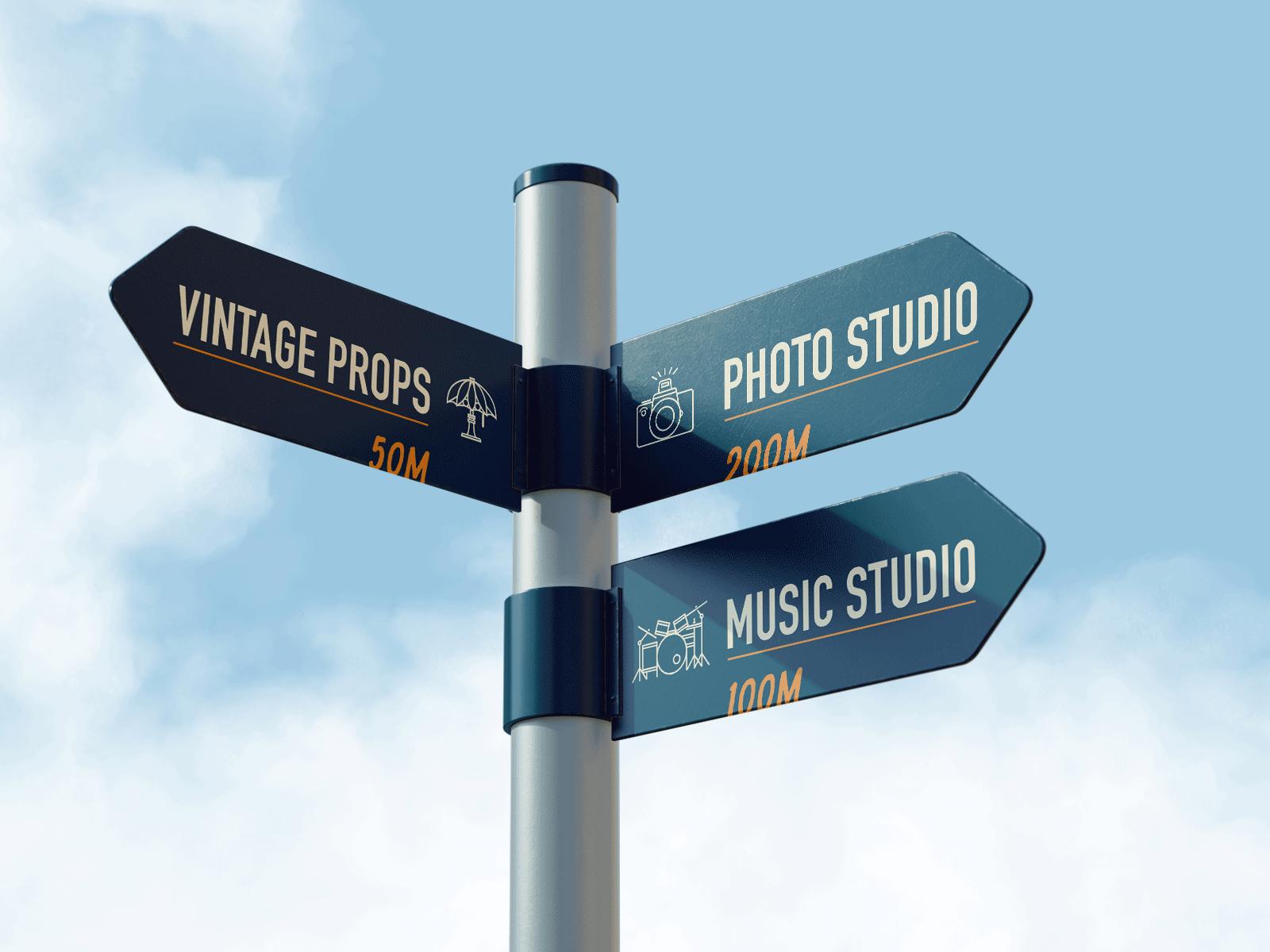 navigational signage design for High Ground Brand Identity Design Project