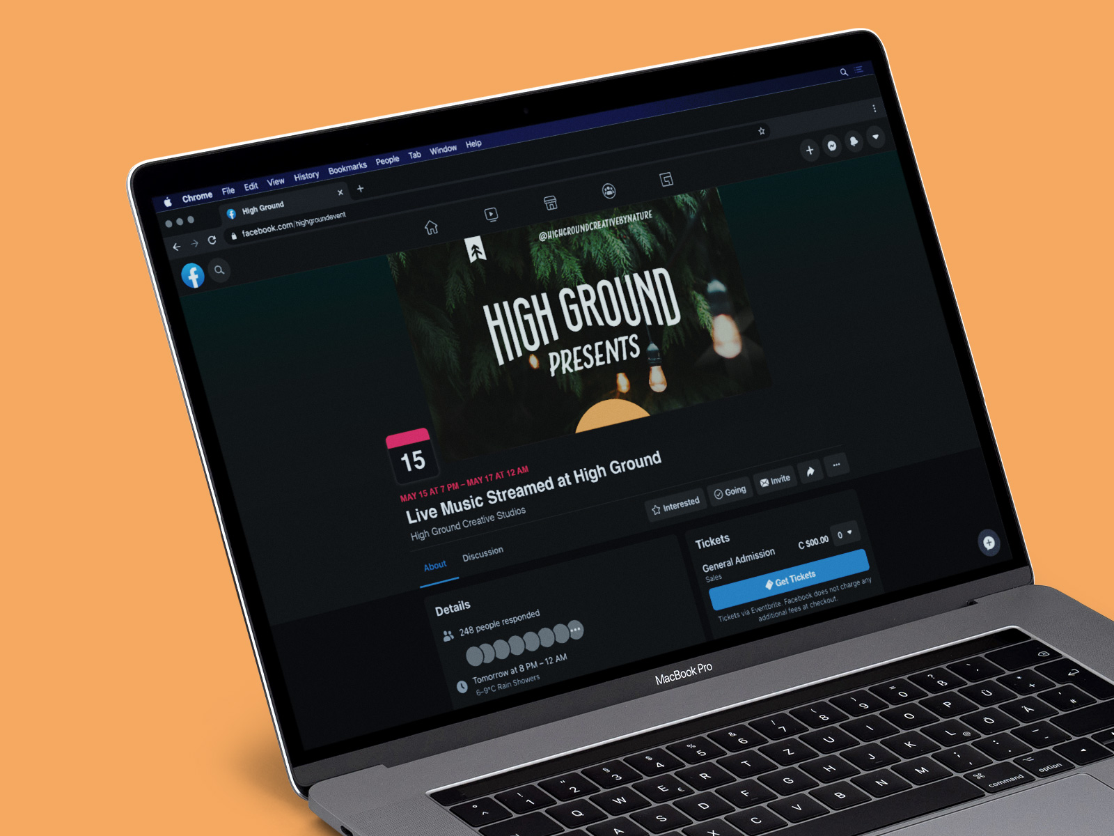 facebook event cover photo for High Ground Brand Identity Design Project