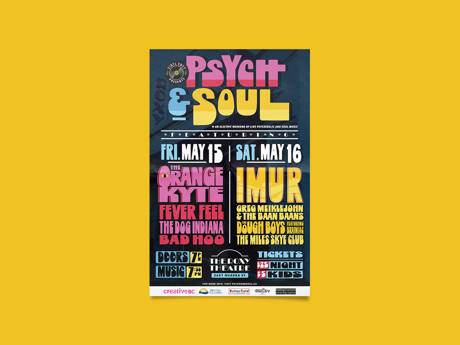 poster design for psych and soul music festival