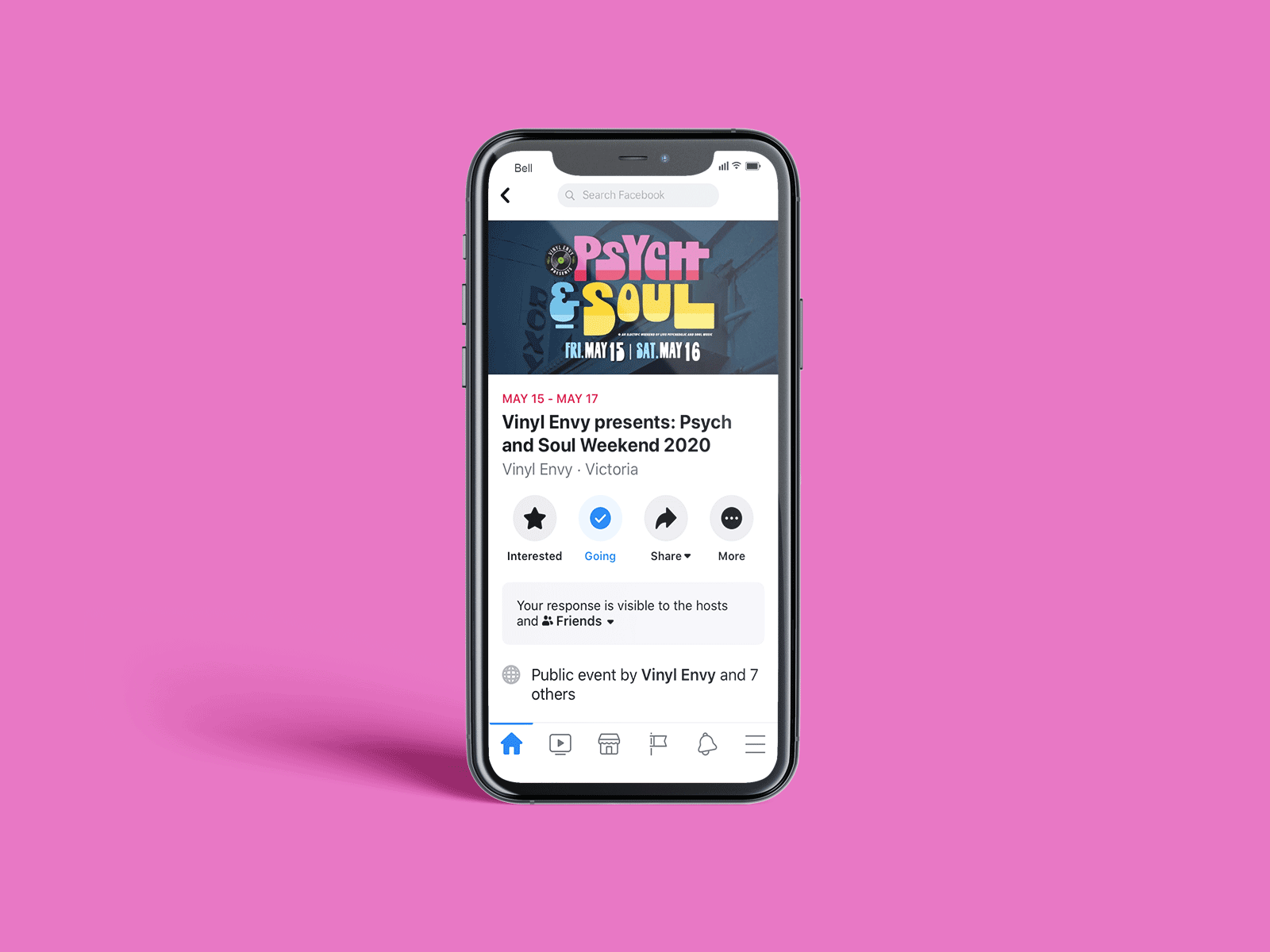 facebook event banner design on mobile for psych and soul music festival
