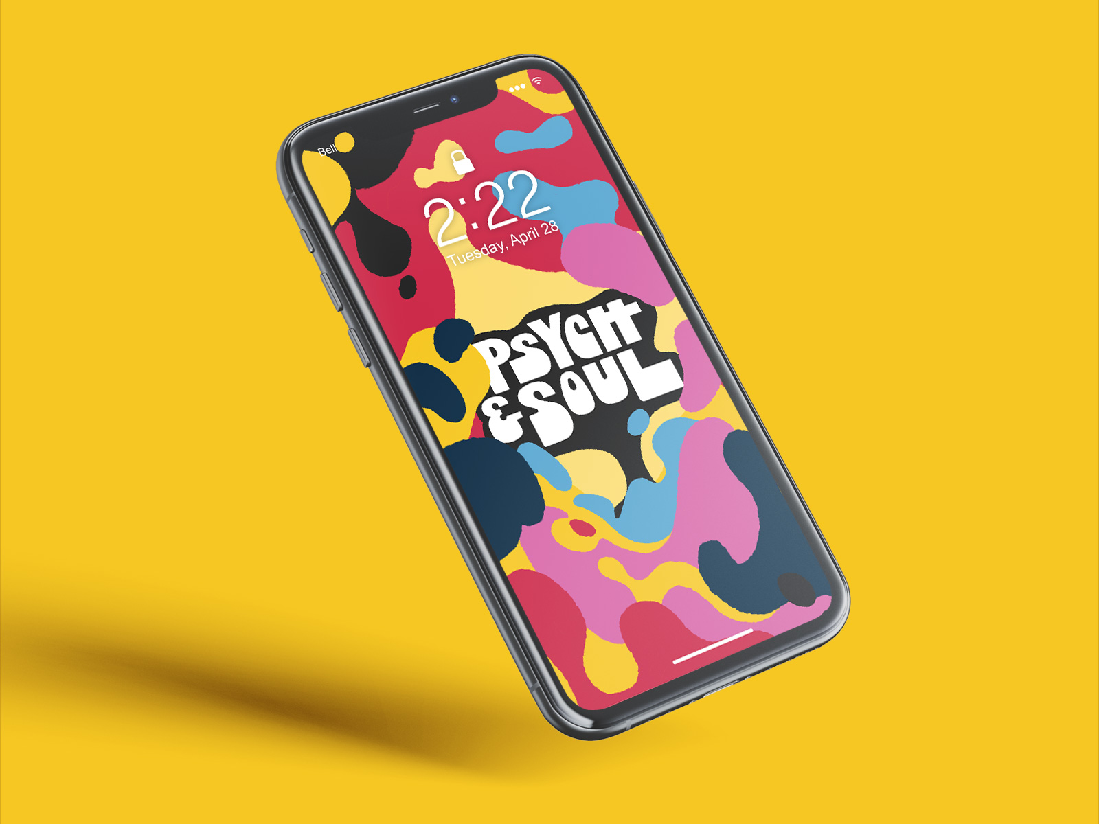 phone wallpaper design for psych and soul music festival