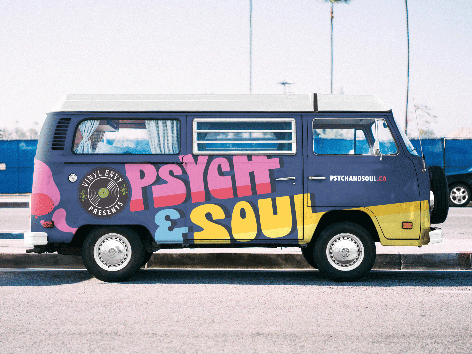van decals designed for psych and soul music festival