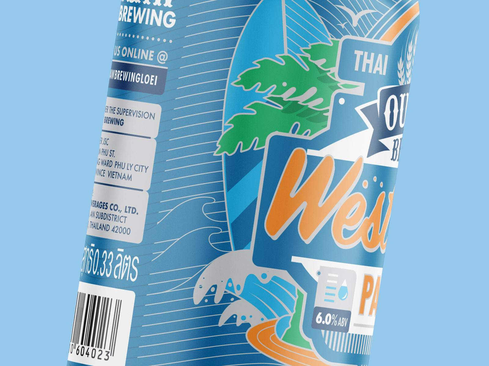Craft beer can label design