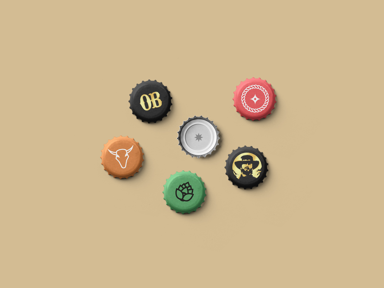 bottle cap design for outlaw brewing