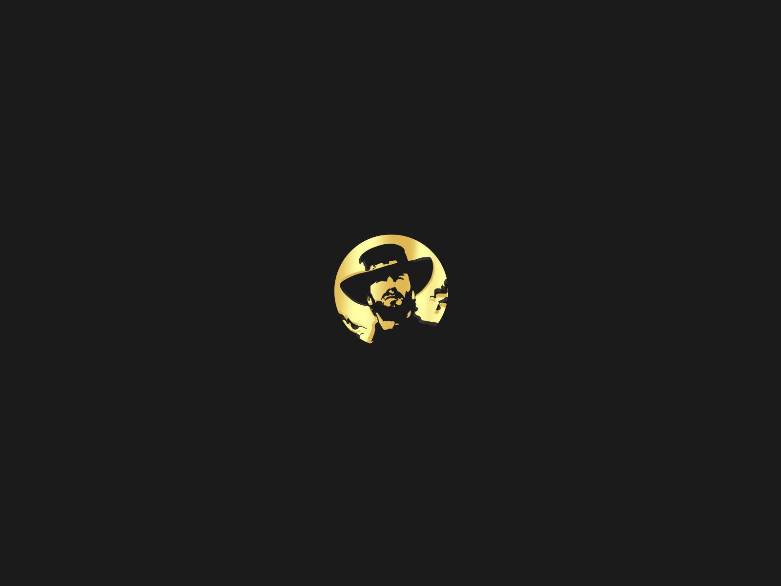 outlaw brewing gold logo design