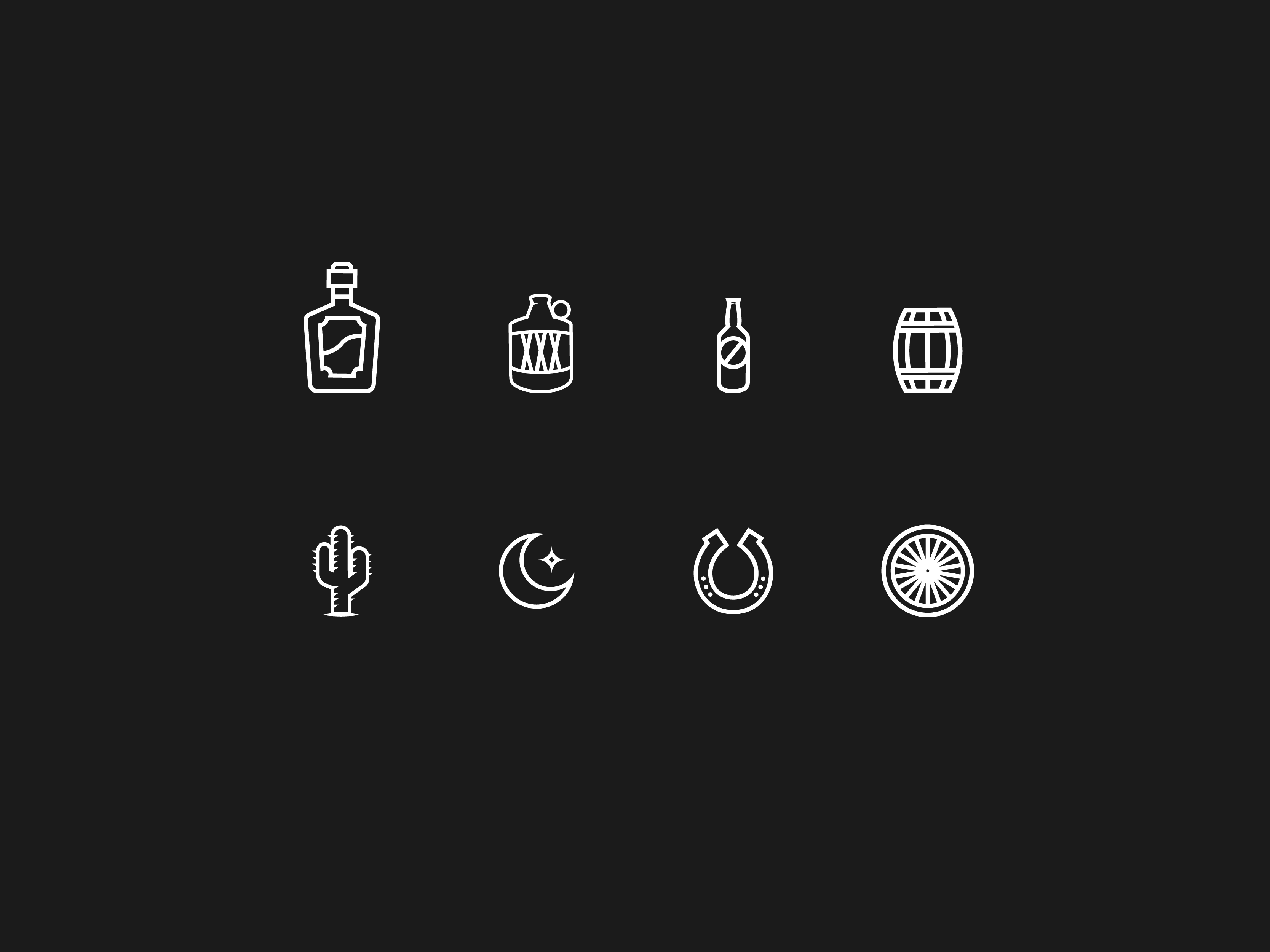 icon designs for outlaw brewing