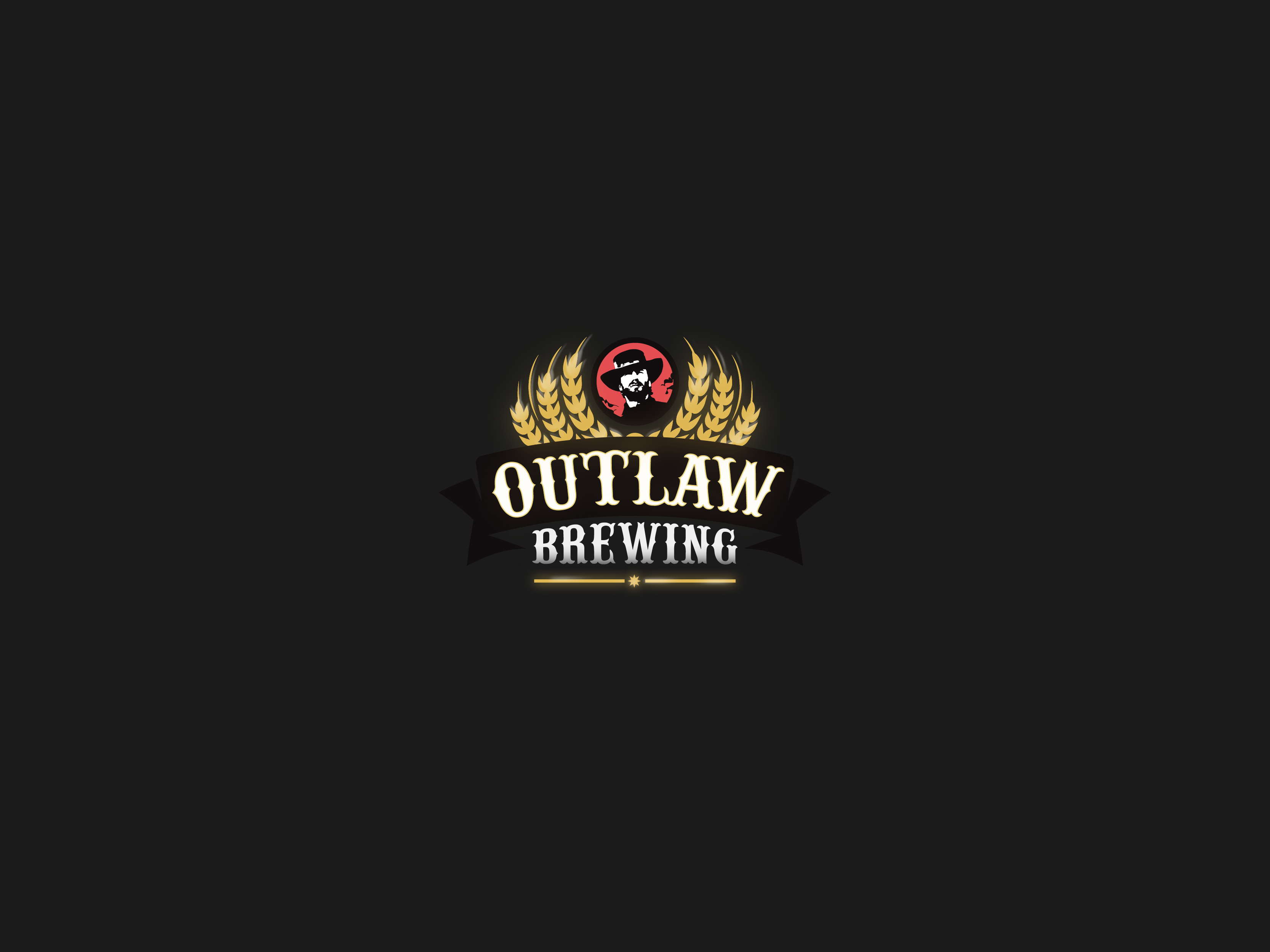 logo design for outlaw brewing
