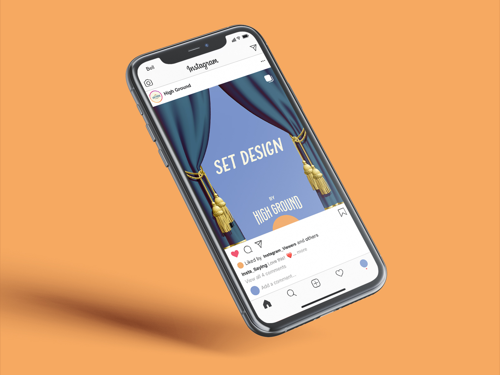 instagram ad template for High Ground Brand Identity Design Project