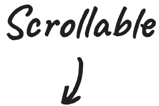 Scrollable Typography Design