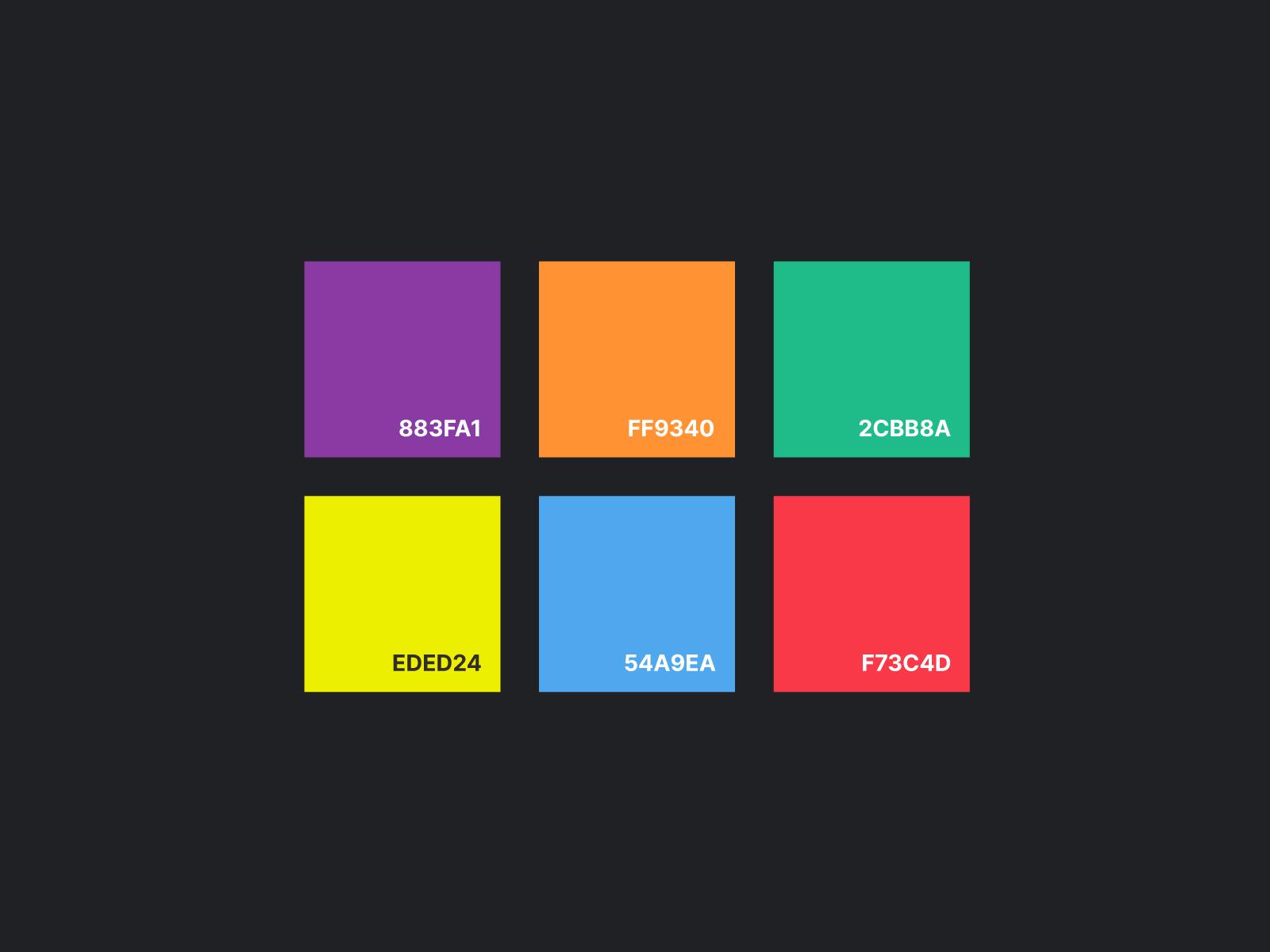 colour palette for greg baan .com