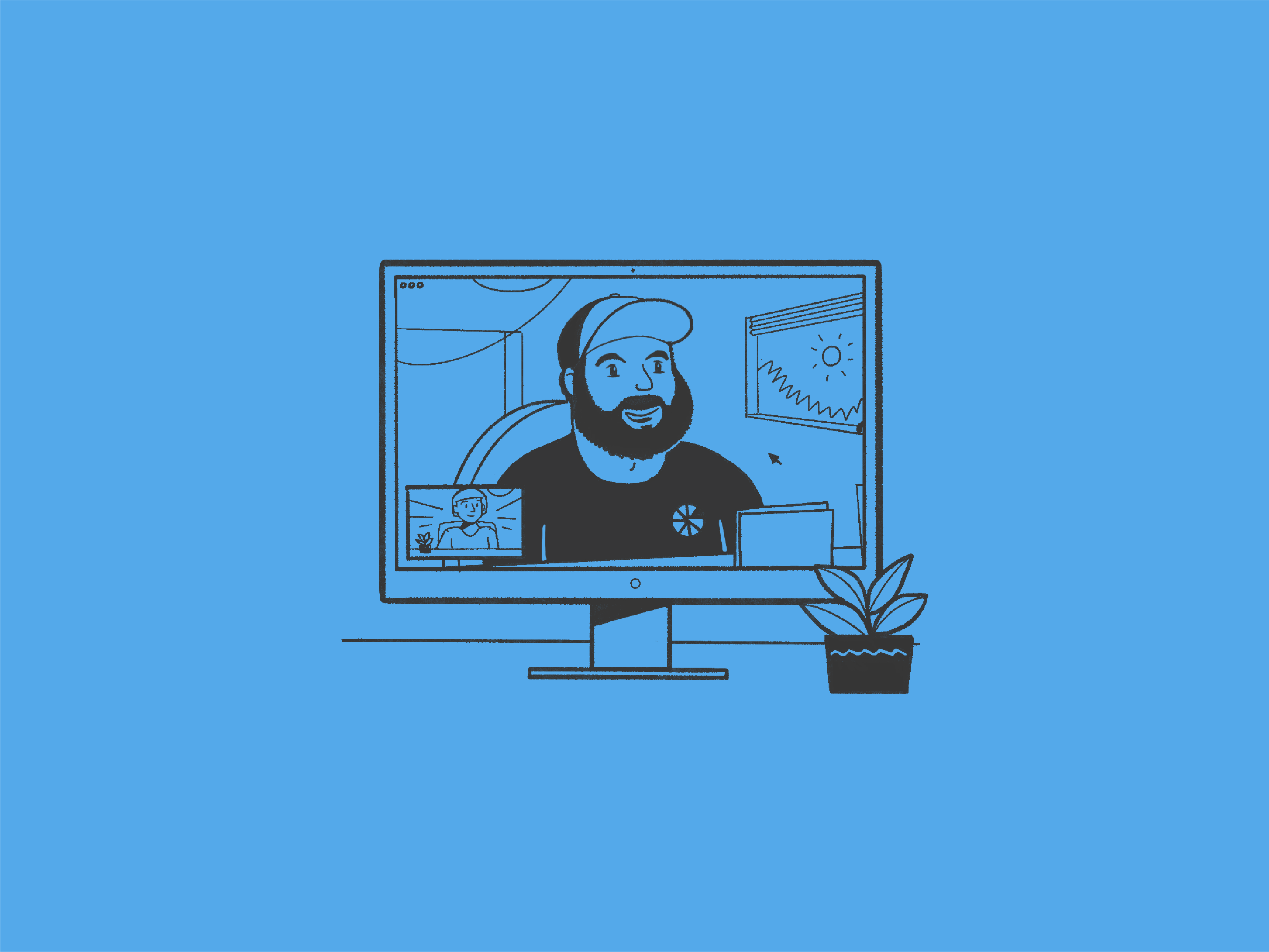 illustrated portrait of greg for greg baan .com