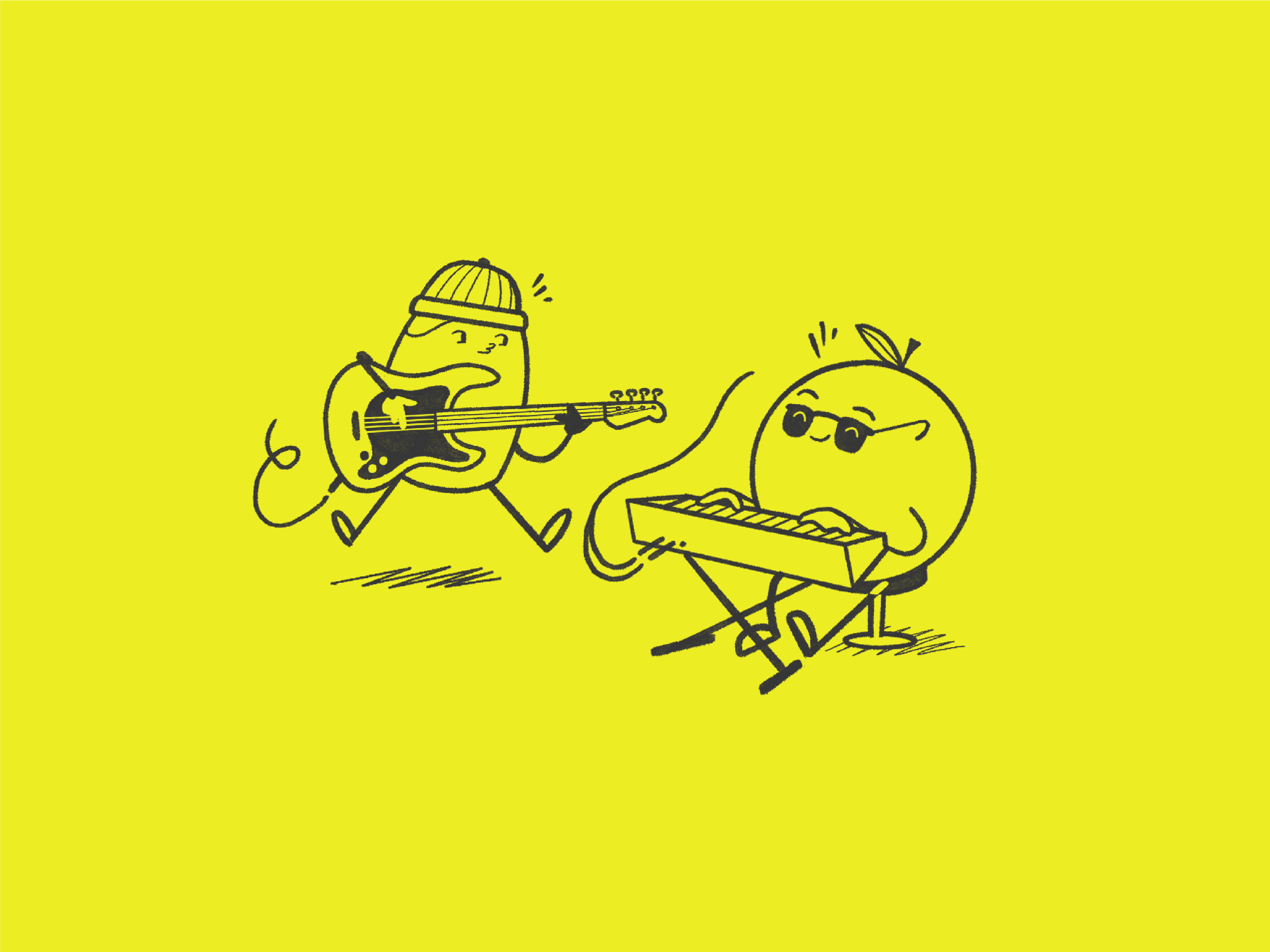 Fun Illustration Band Art and Website Design Designed by Lucas Bell Graphic Designer in Victoria BC Canada
