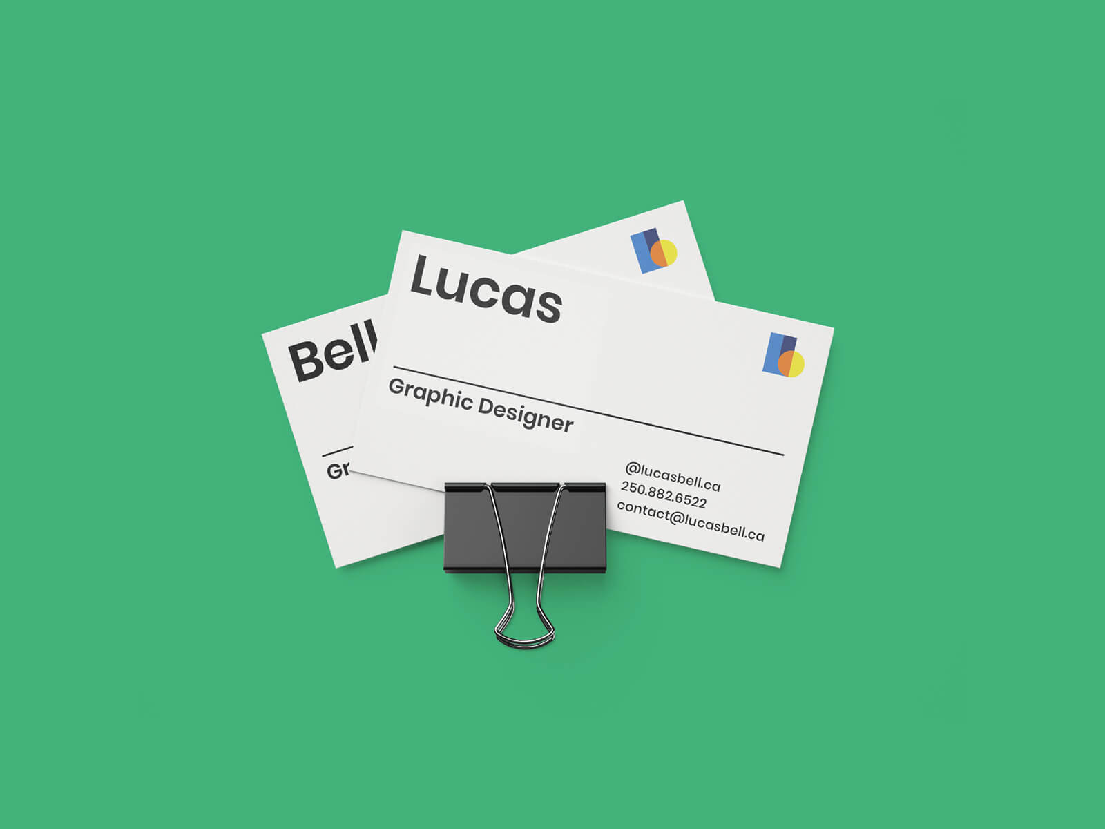 Business Card Design Designed by Lucas Bell Graphic Designer in Victoria BC Canada