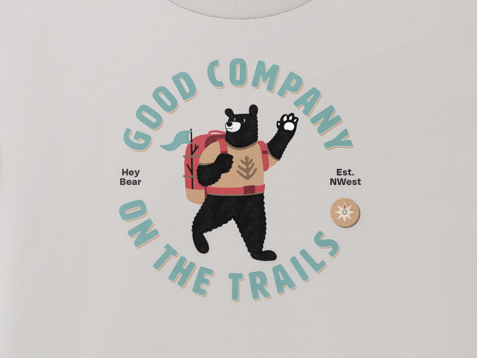 shirt graphic design for hey bear logo design project