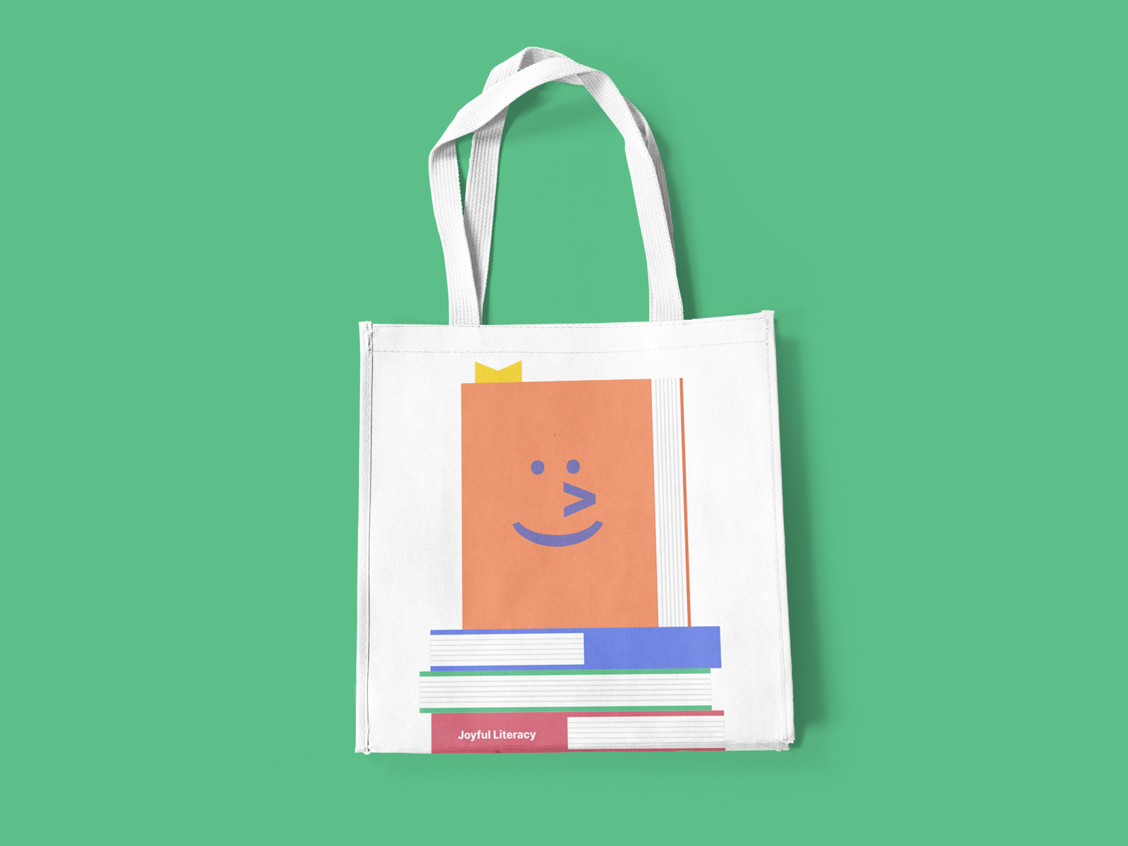 Tote Bag Design for Joyful Literacy by Lucas Bell Graphic Designer in Victoria BC