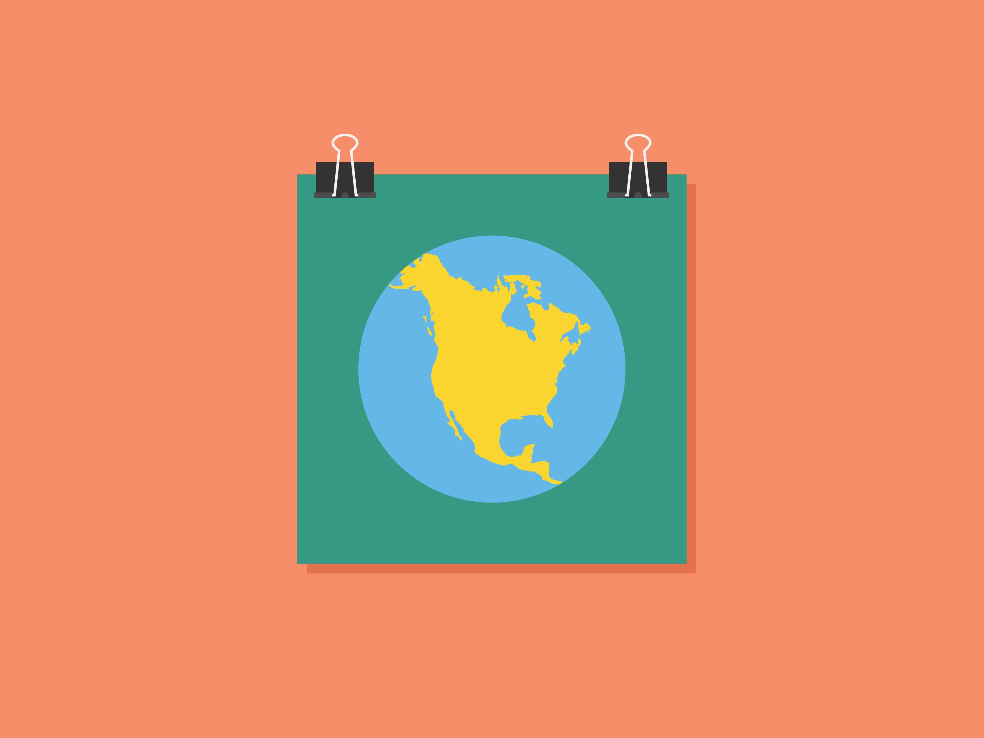 north america illustration for joyful literacy brand identity design