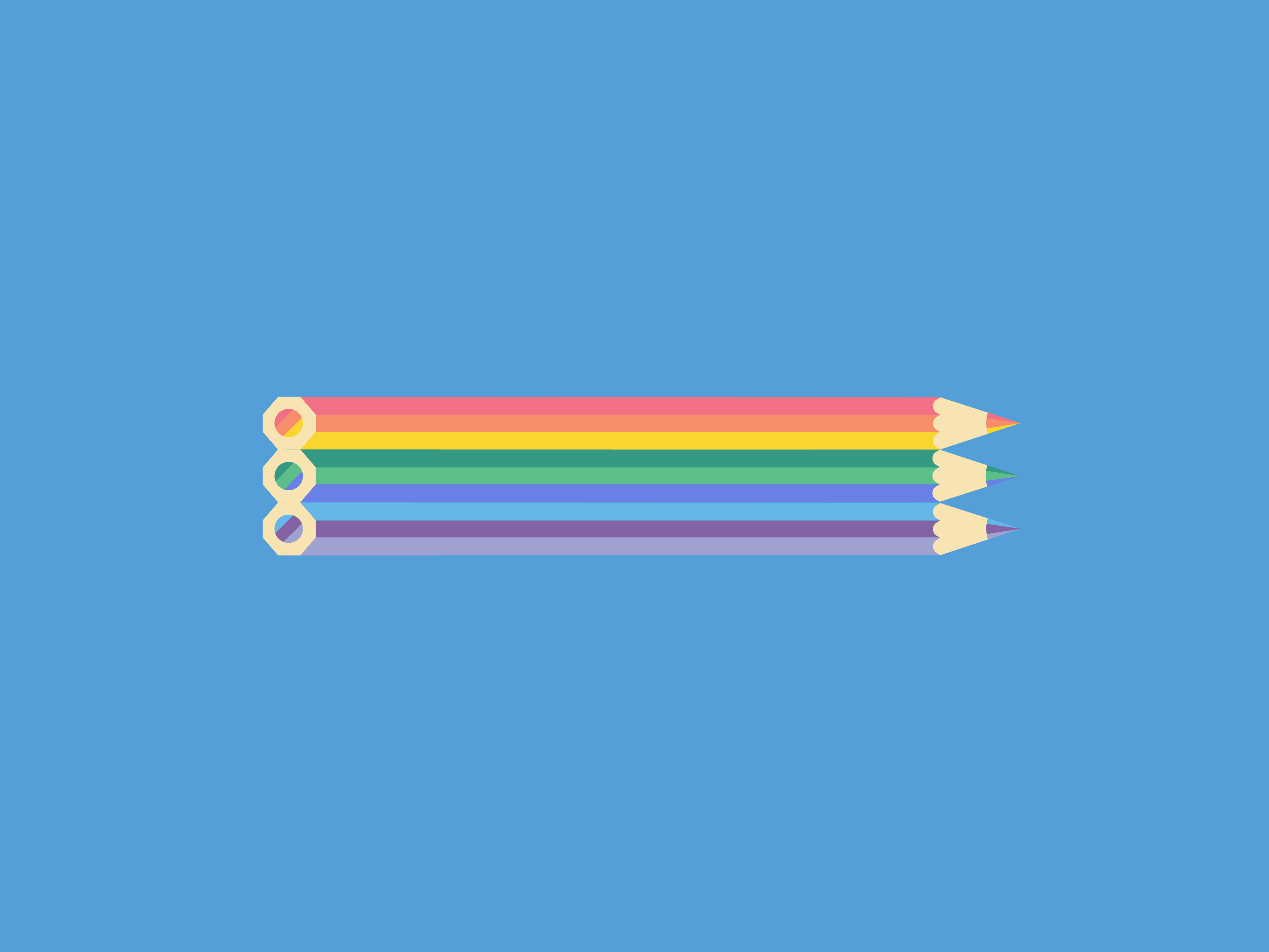 pencil crayon design for joyful literacy brand identity design
