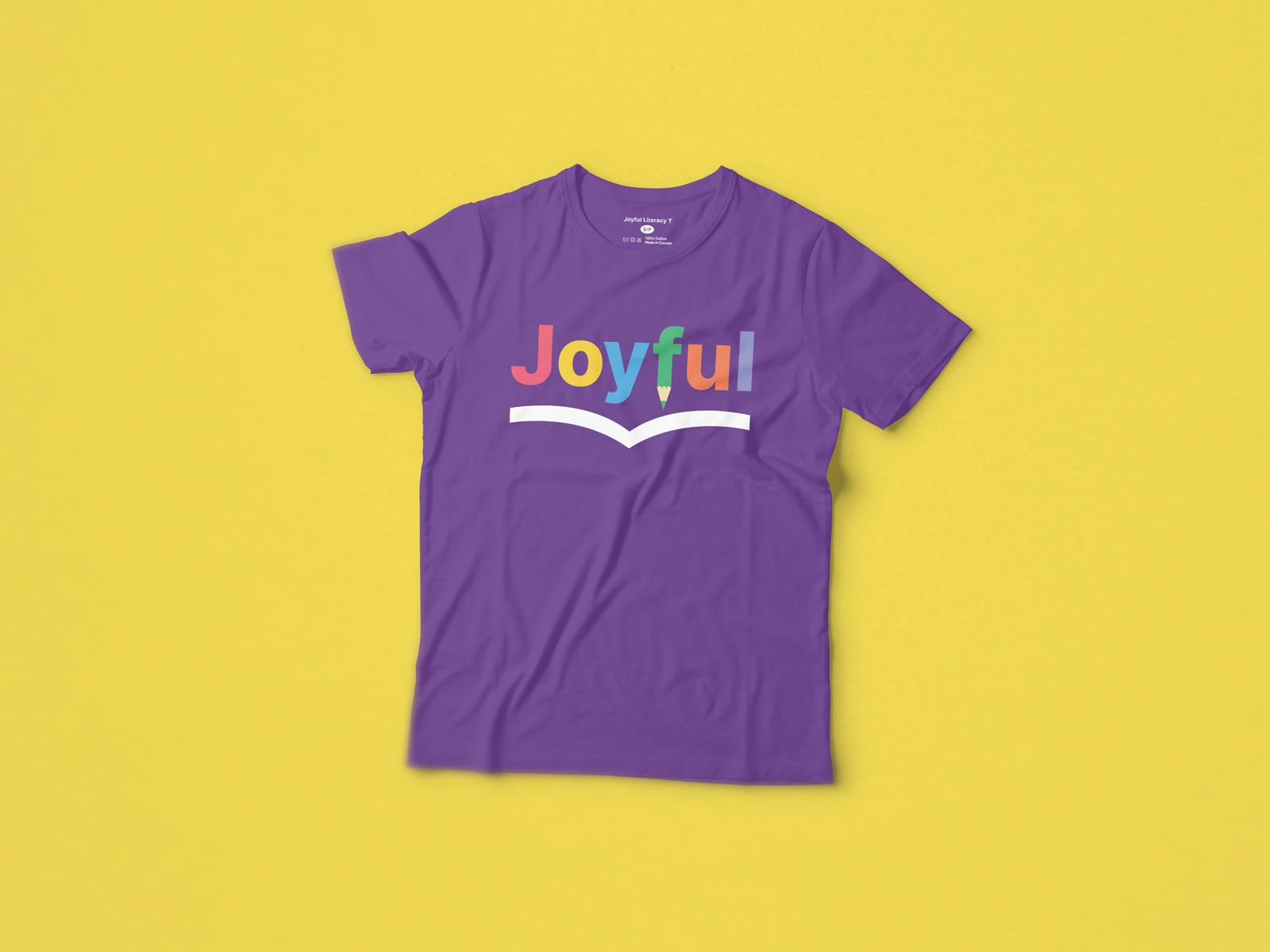 T Shirt Merchandise Design for Joyful Literacy