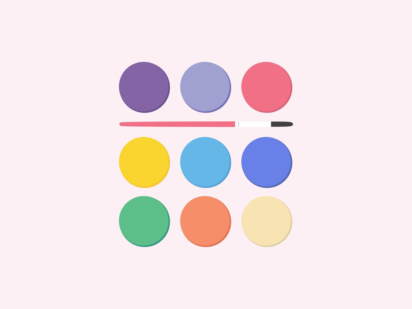 colour palette design for joyful literacy brand identity design