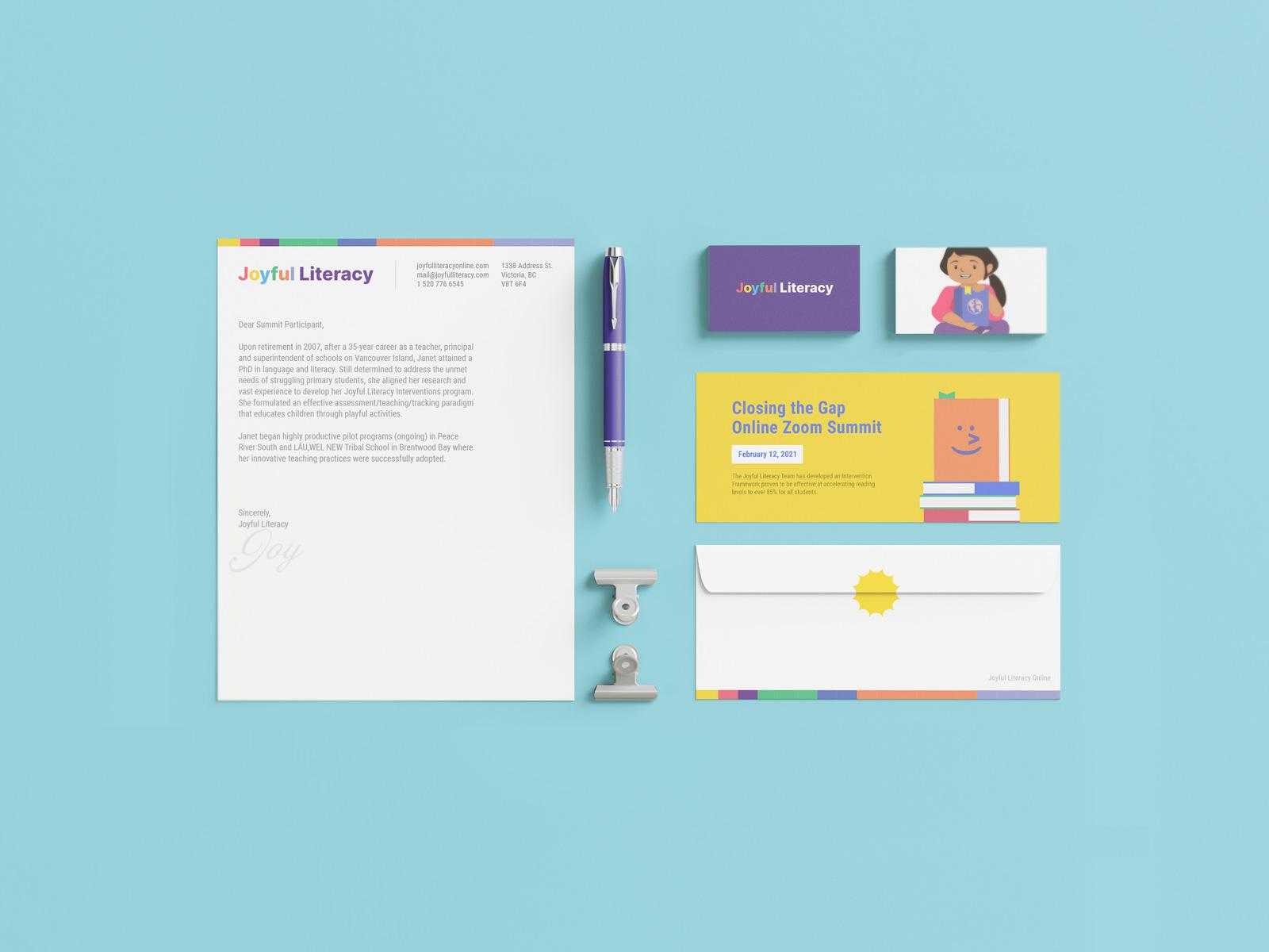 Branded Stationary Design for Joyful Literacy