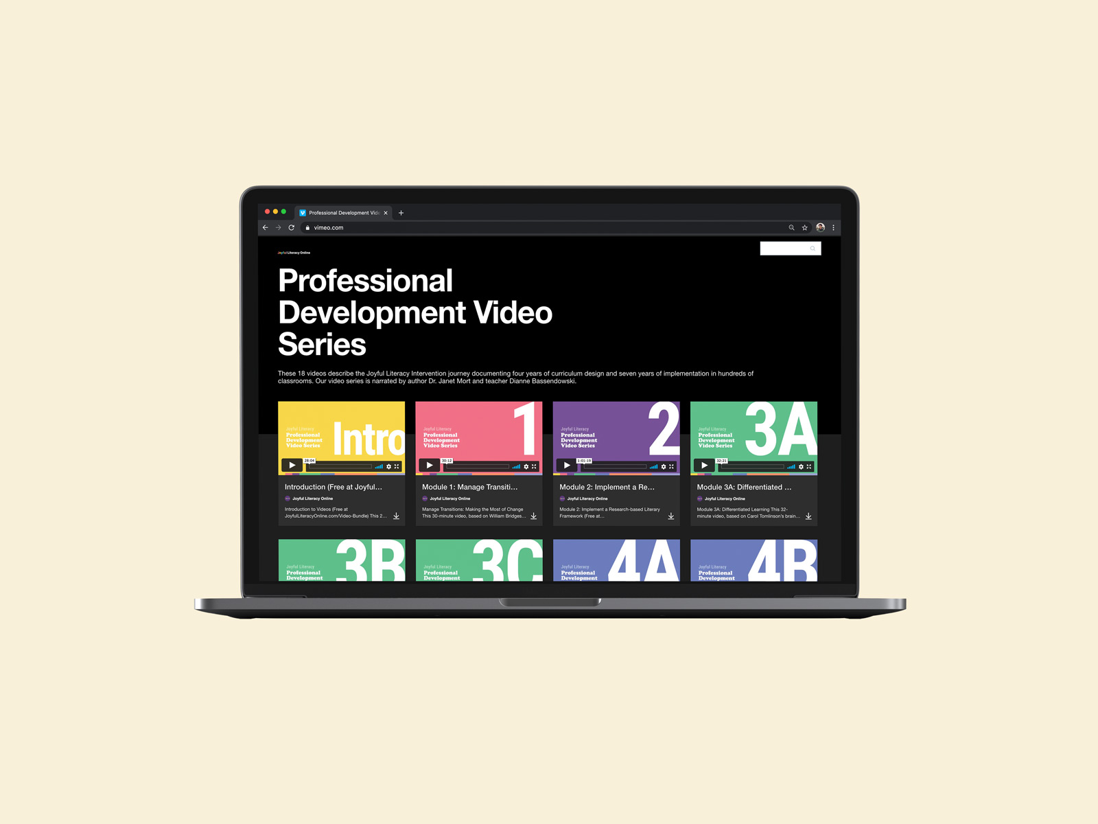 video series thumbnail design for joyful literacy brand identity design