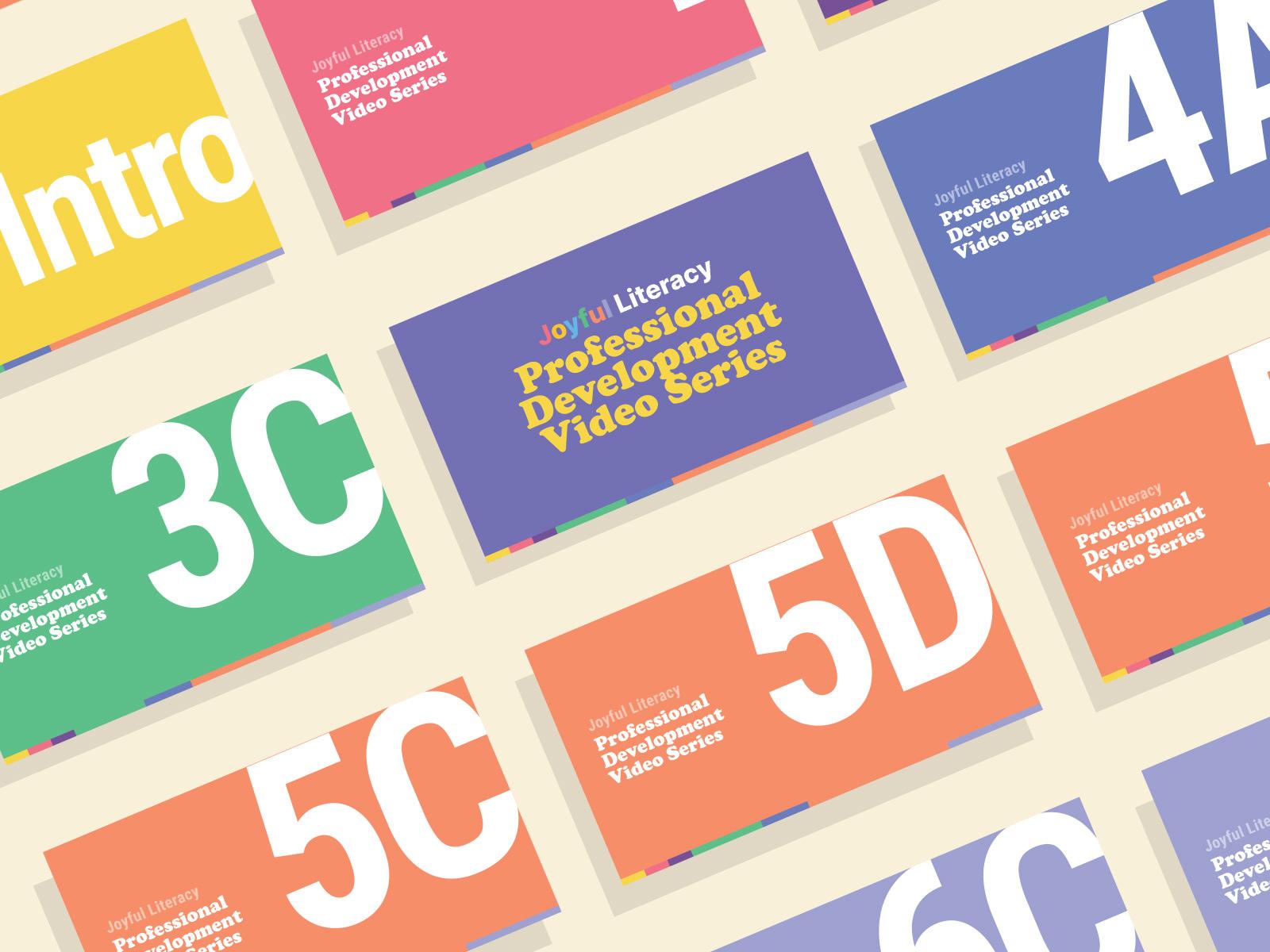 thumbnail design for joyful literacy brand identity design