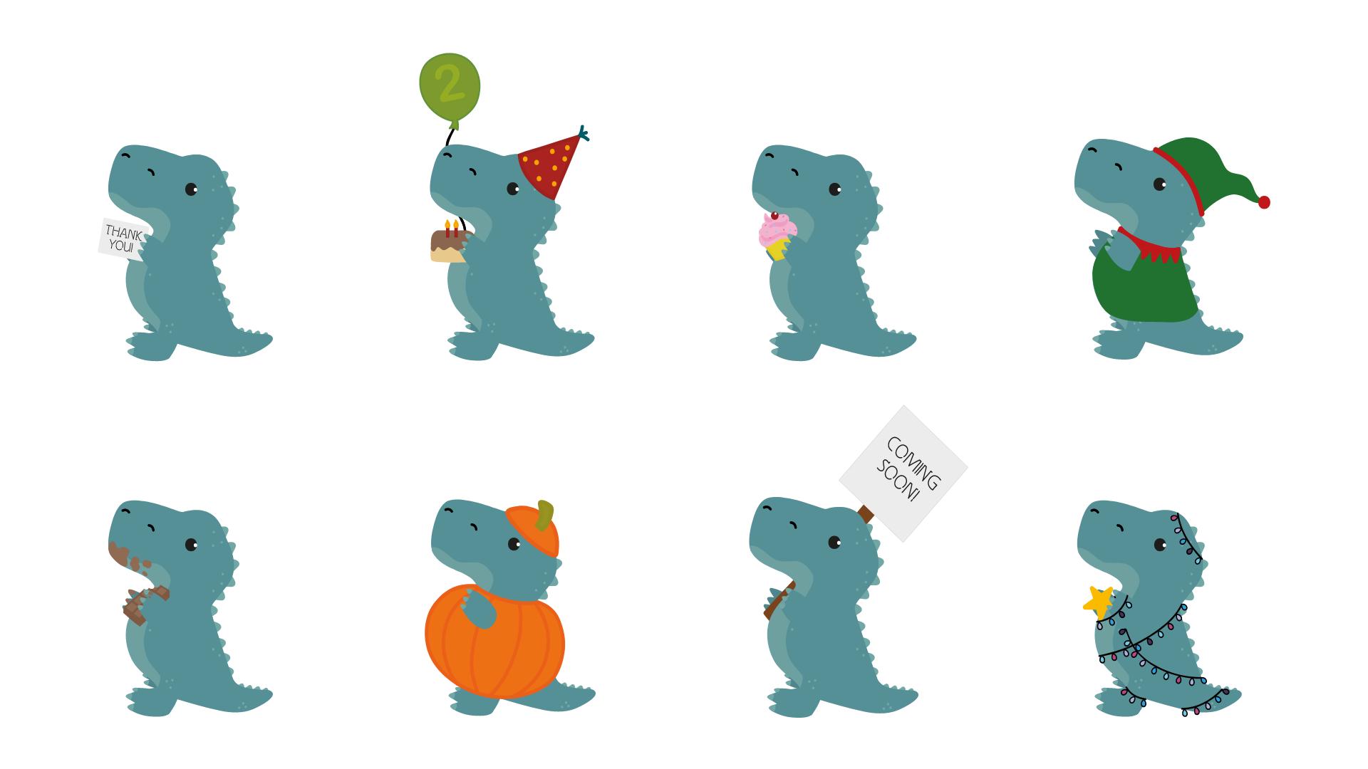T-Rex Character Design Illustration