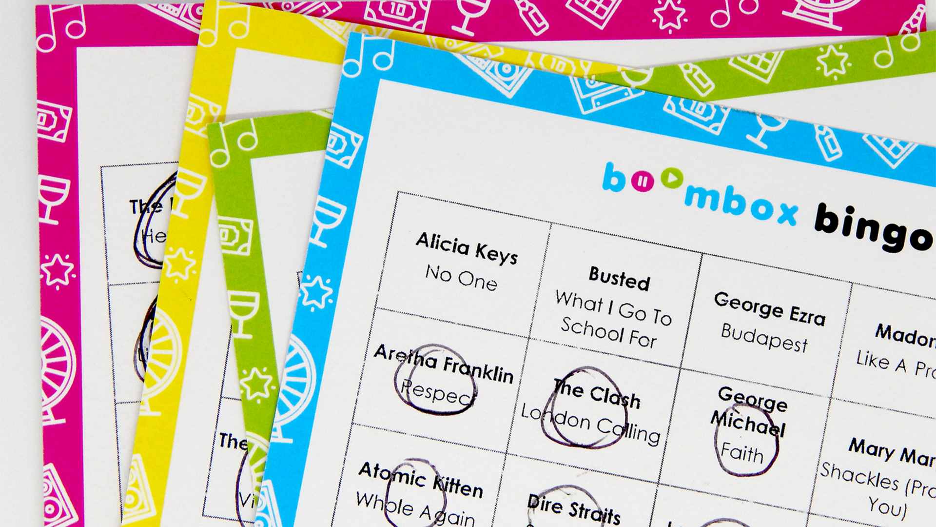 Music Bingo Brand Print Design