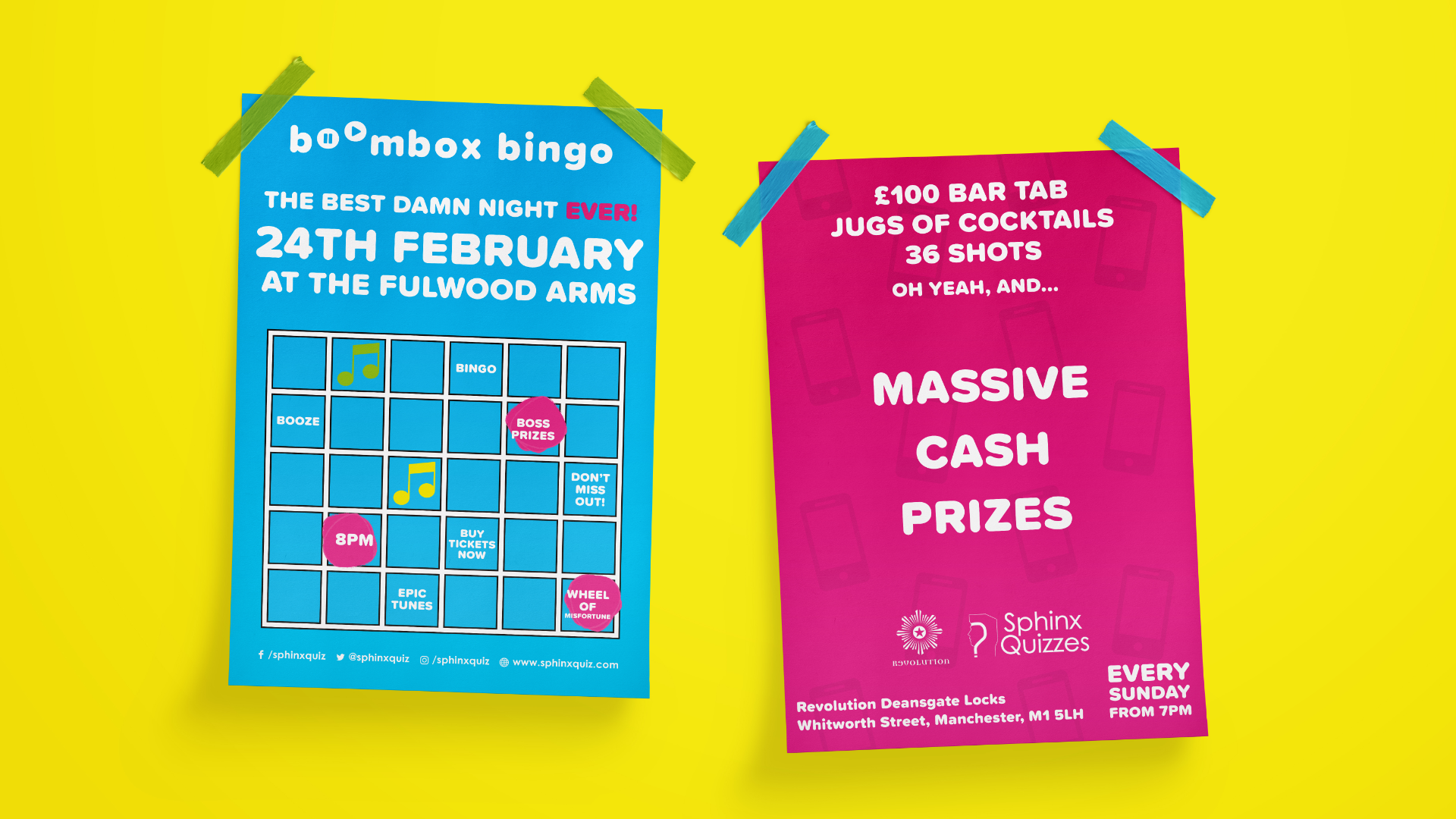 Music Bingo Brand Poster Print Design