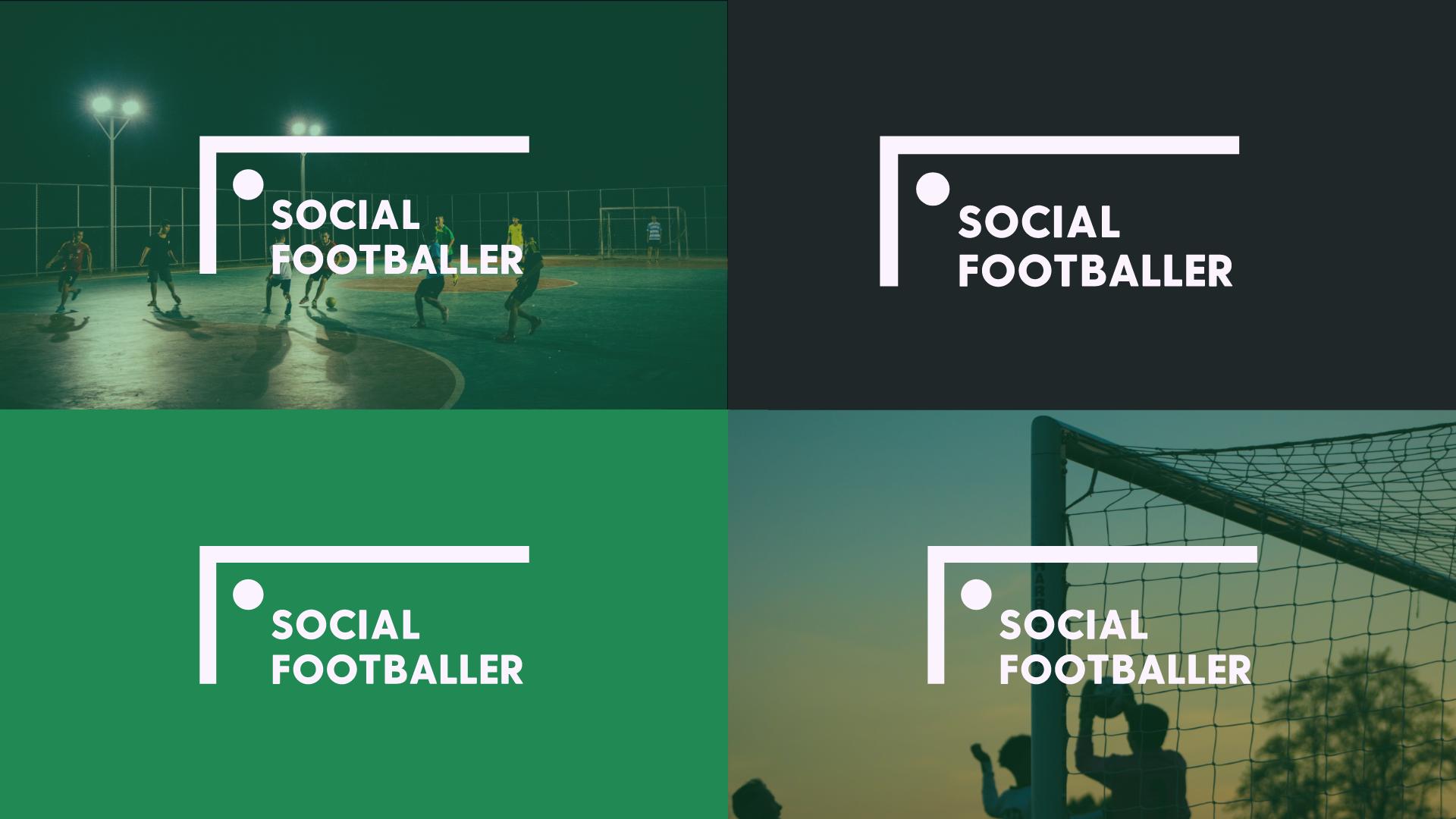 Social Football App Branding Logo