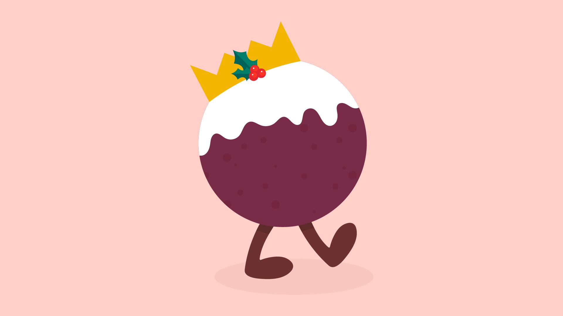 Christmas pudding illustration