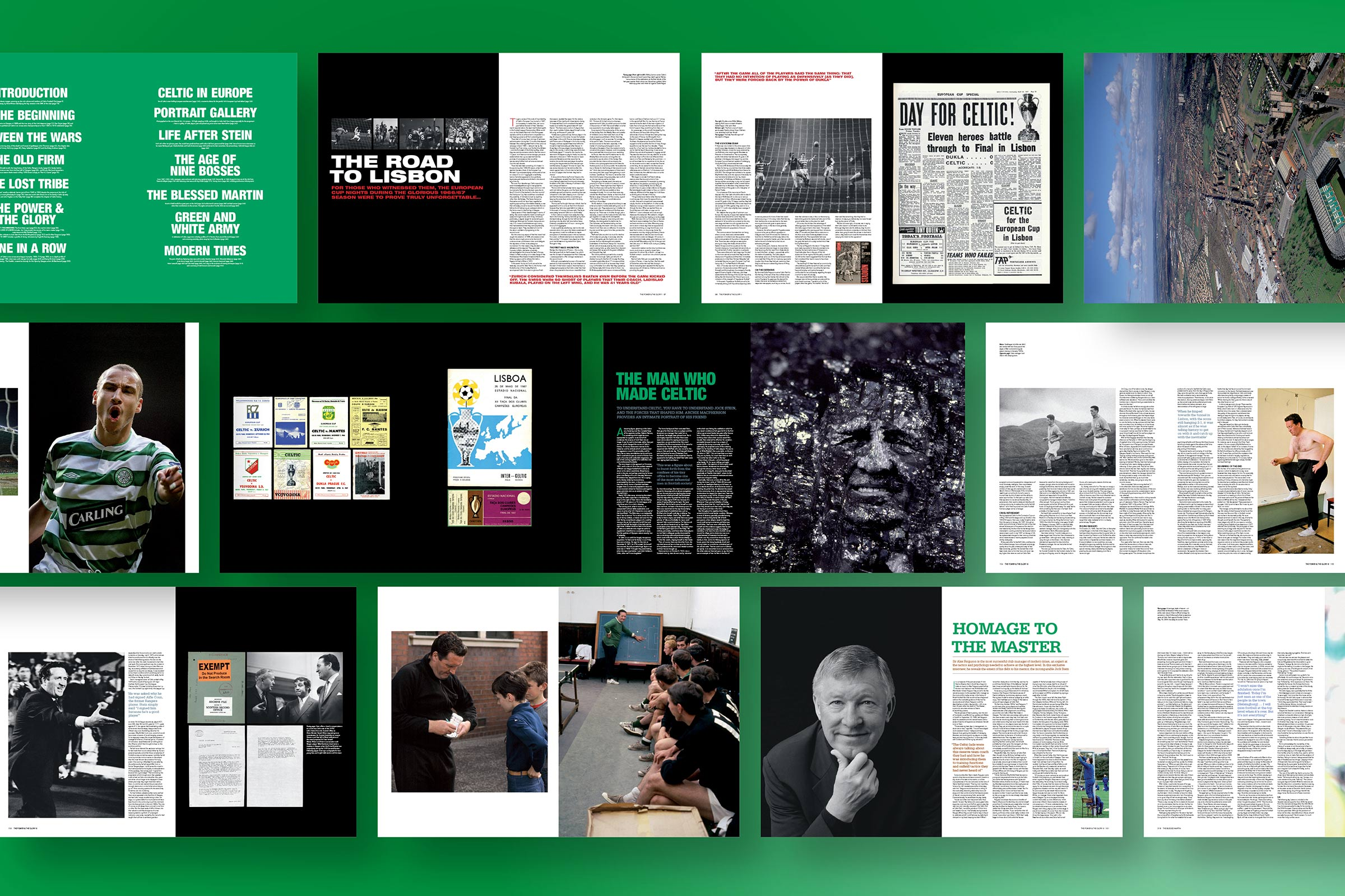 Annual report design for Celtic football club.